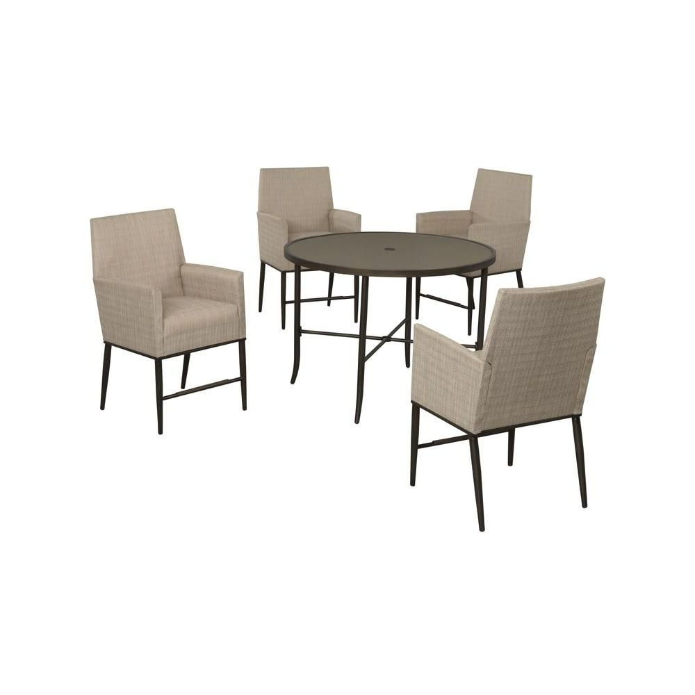 Aria 5 Piece Dining Sets Inside 2019 Hampton Bay Aria 5 Piece Patio High Dining Set Fcs80223St – The Home (View 6 of 25)