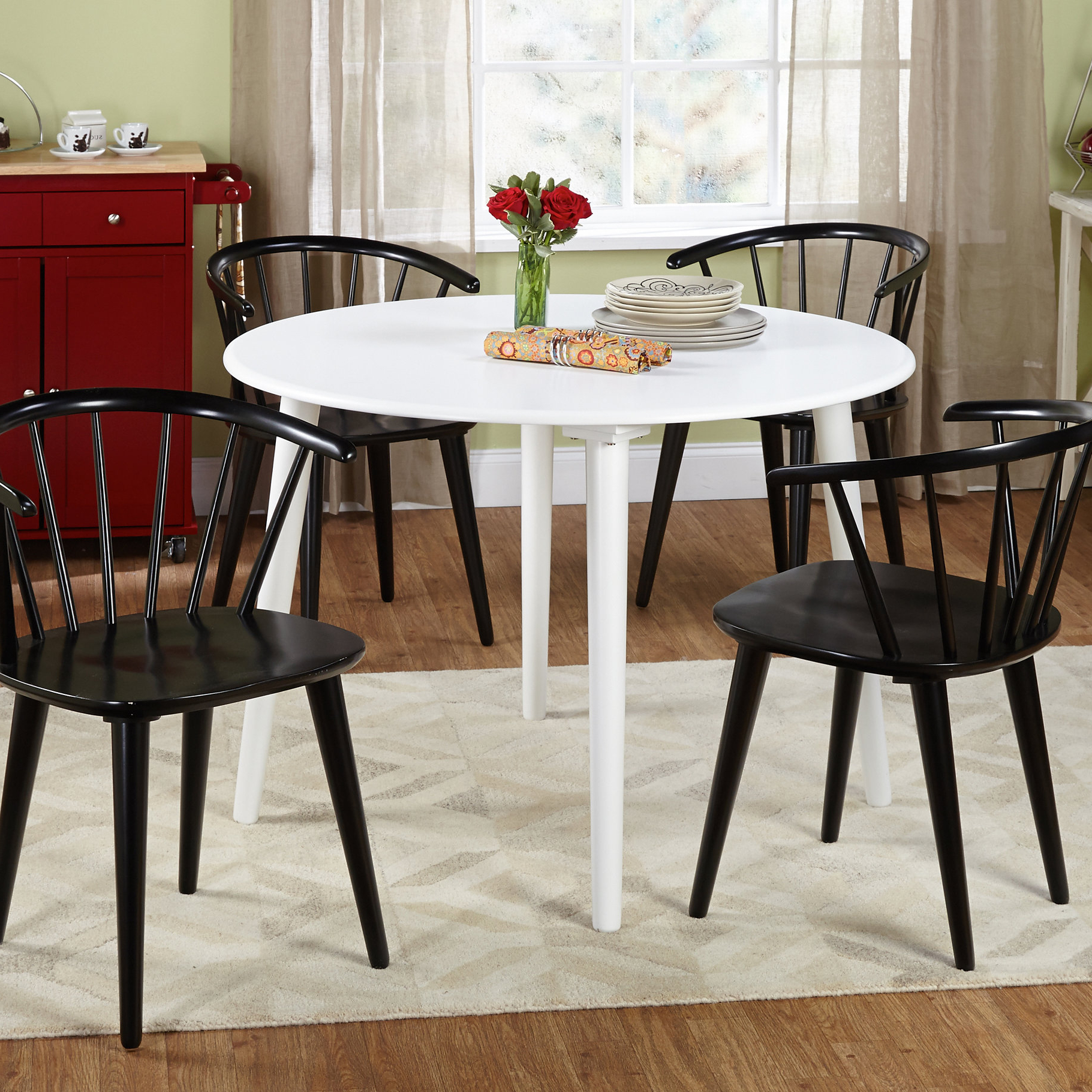 Arielle 5 Piece Wood Dining Set & Reviews (View 6 of 25)