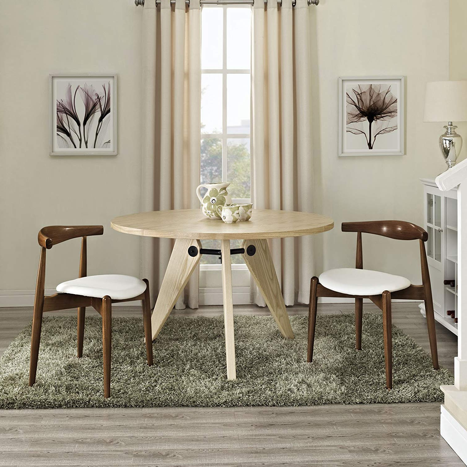 Askern 3 Piece Counter Height Dining Sets (Set Of 3) Pertaining To Most Popular Amazon – Modway Stalwart Beechwood Mid Century Dining Chairs (View 5 of 25)