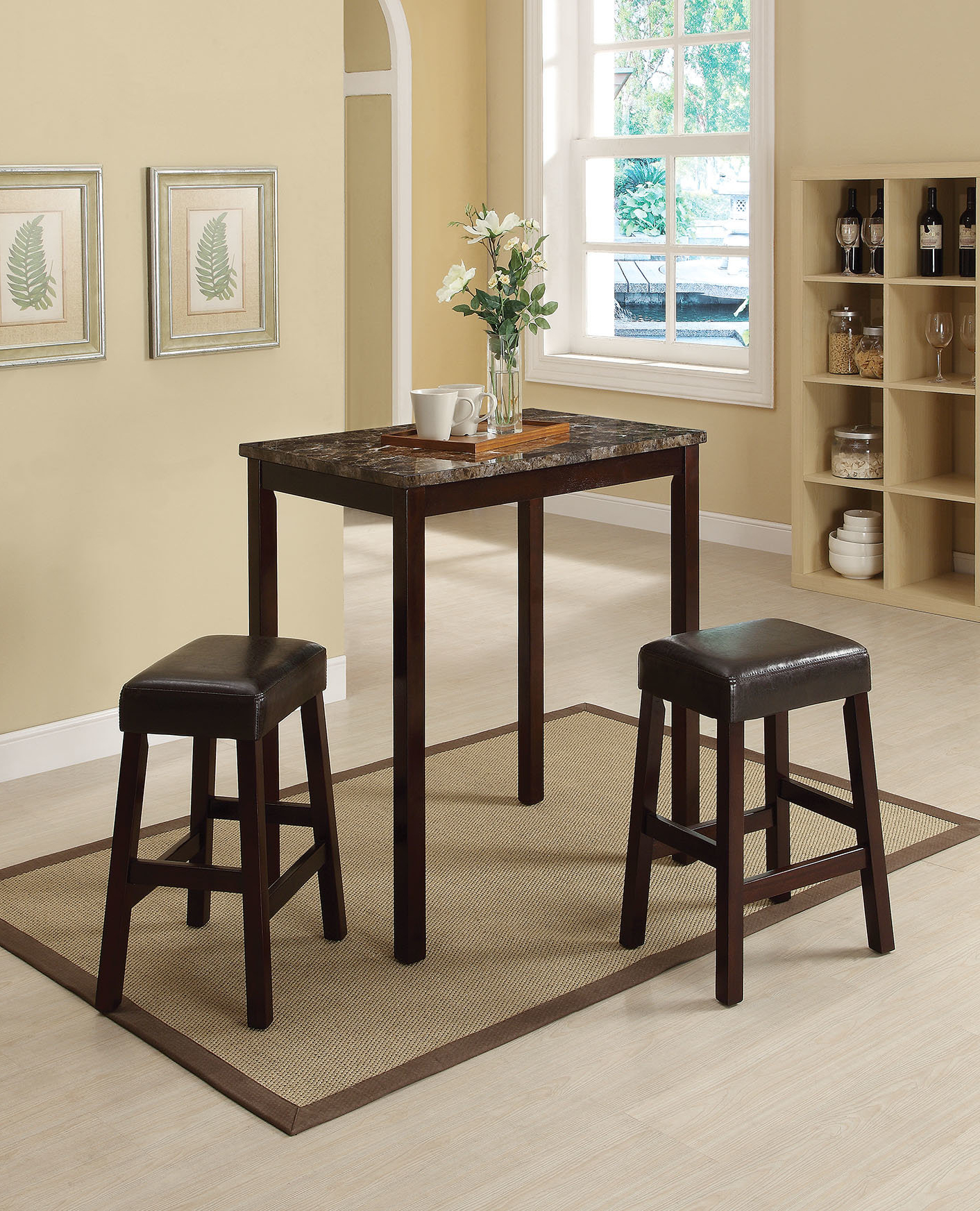 Featured Photo of Askern 3 Piece Counter Height Dining Sets (Set Of 3)