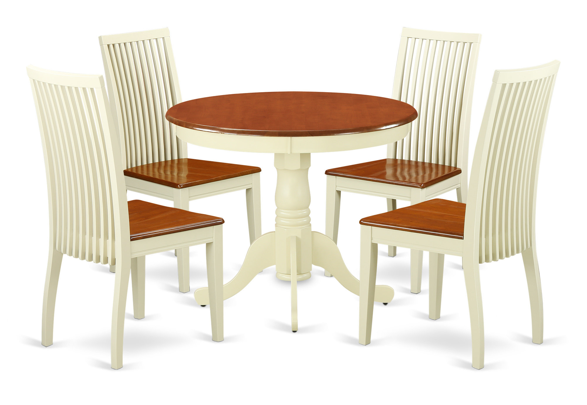 August Grove Brendan 5 Piece Breakfast Nook Solid Wood Dining Set With Trendy 5 Piece Breakfast Nook Dining Sets (View 6 of 25)