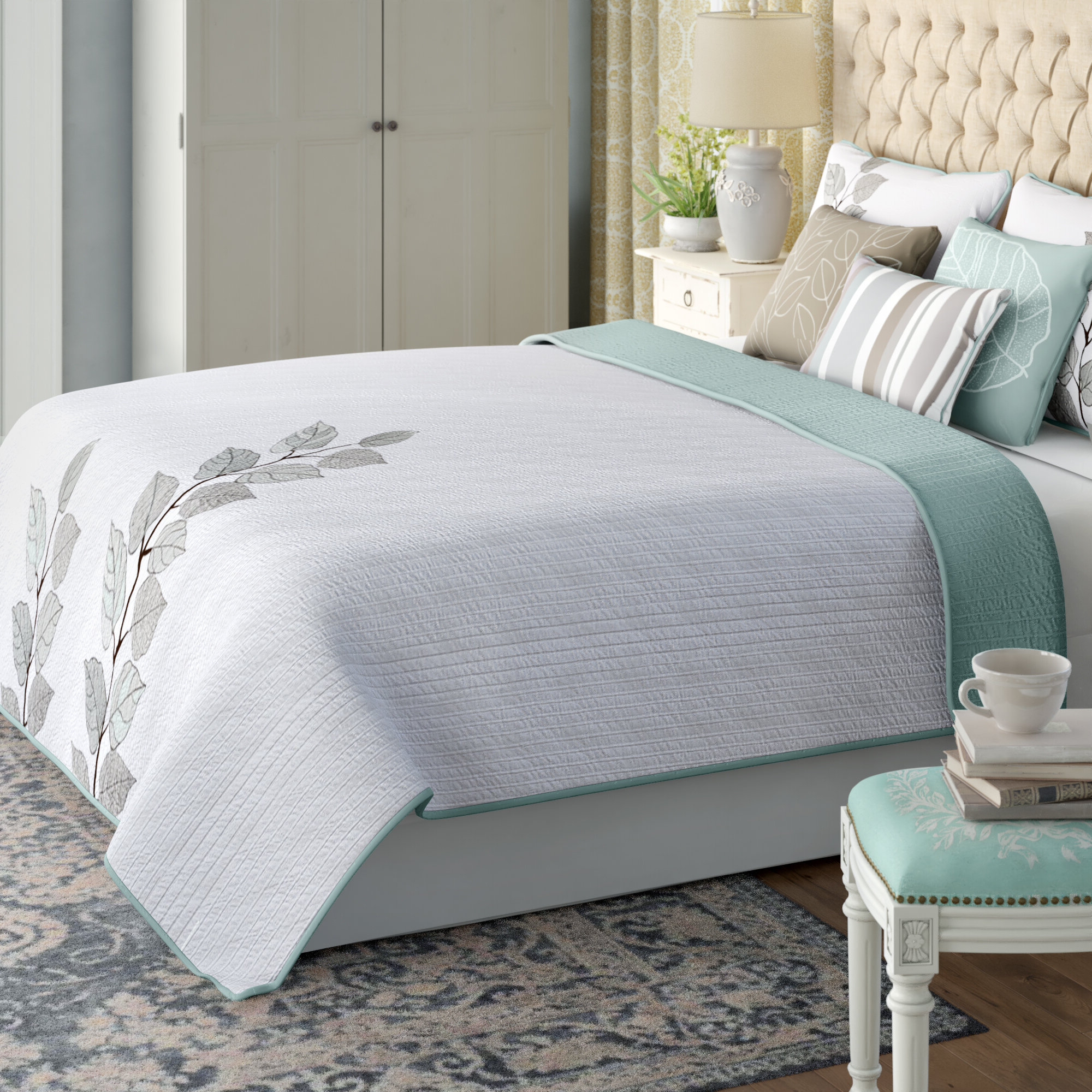 August Grove Queener 6 Piece Reversible Coverlet Set & Reviews (View 2 of 25)