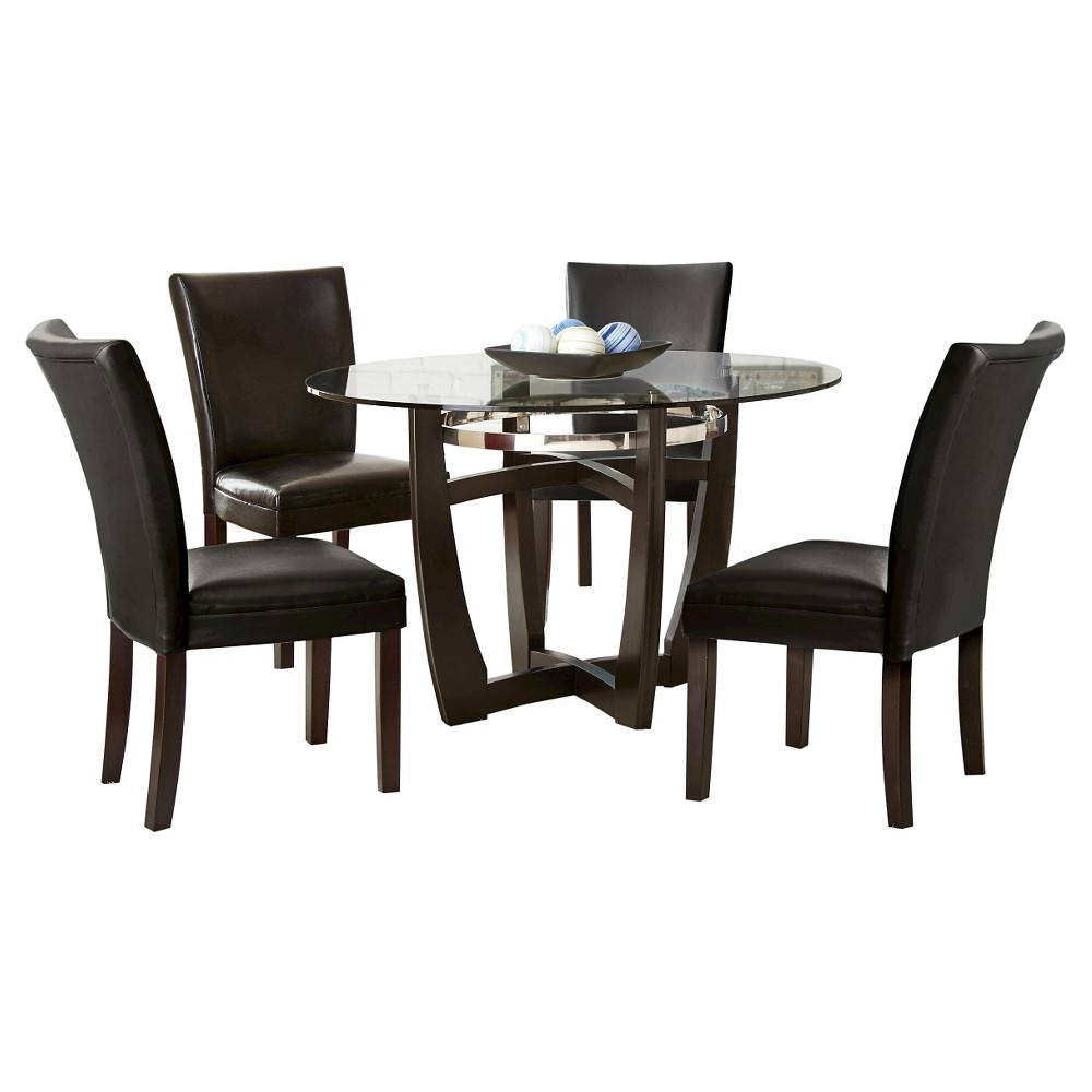 Baxton Studio Keitaro 5 Piece Dining Sets In 2020 5 Piece Margo Dining Table Set Wood/brown/black – Steve Silver (View 4 of 25)