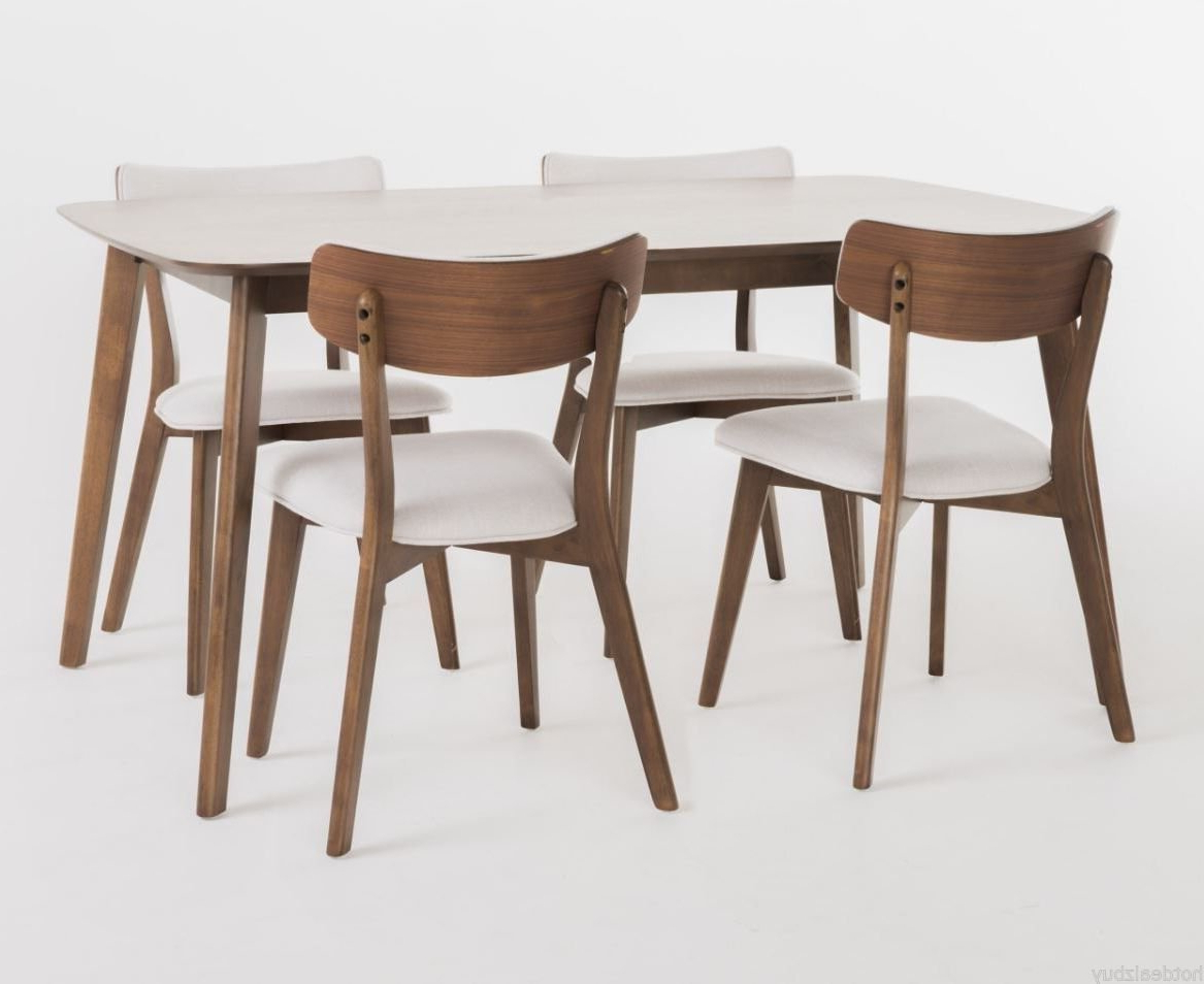 Baxton Studio Keitaro 5 Piece Dining Sets Pertaining To Most Recent Moderndiningset Hashtag On Twitter (View 18 of 25)