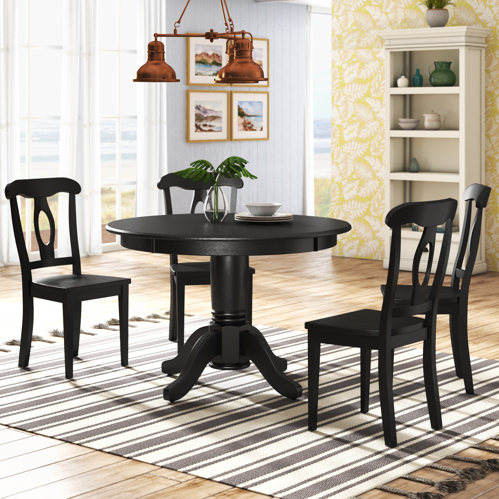 Beachcrest Home Gaskell 5 Piece Dining Set & Reviews (View 4 of 25)