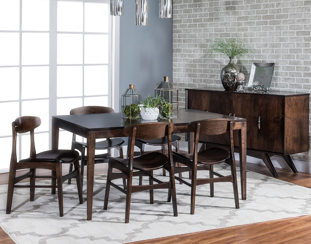 Bedford Hills Leg Table – Amish Direct Furniture Intended For Most Current Bedfo 3 Piece Dining Sets (View 3 of 25)