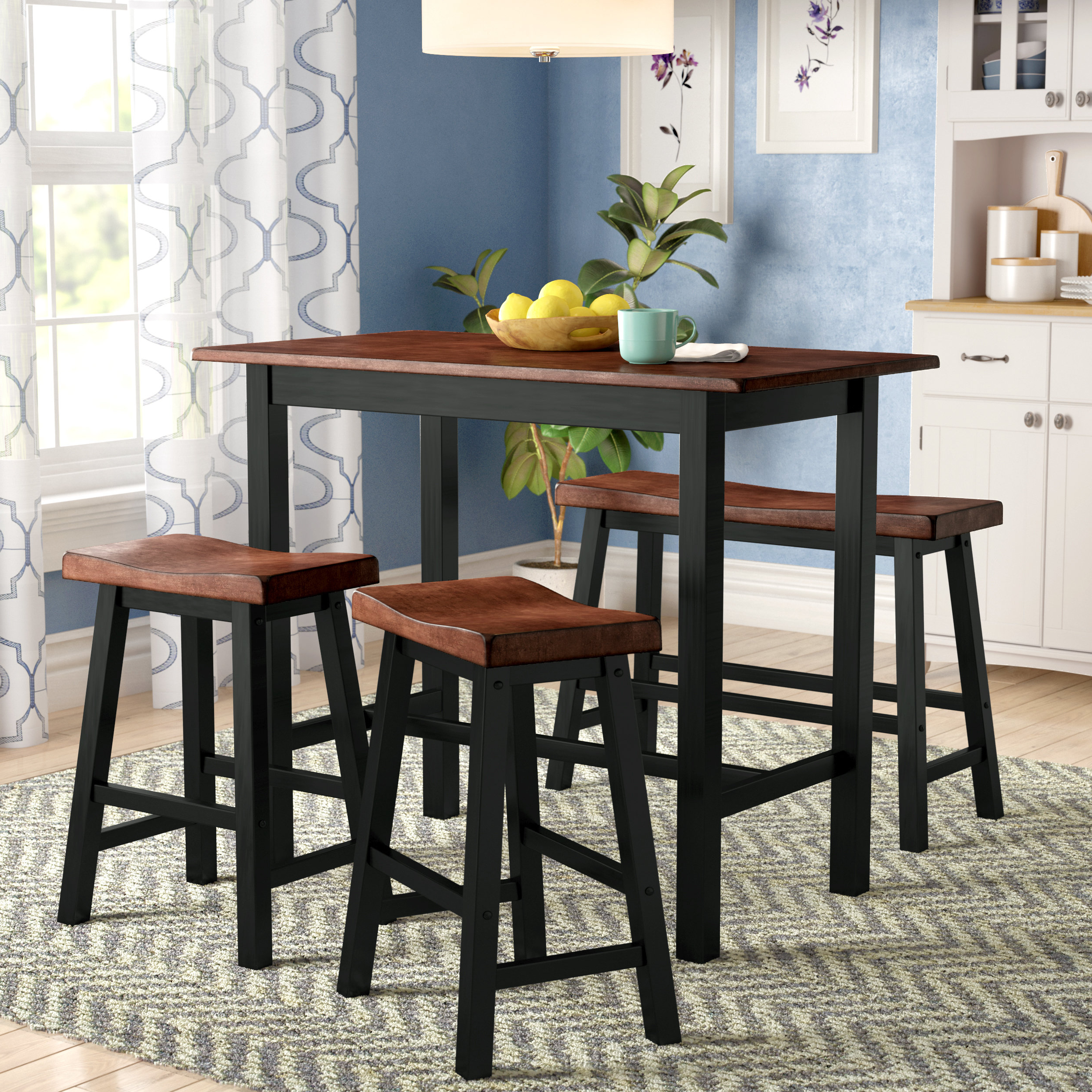 Berrios 3 Piece Counter Height Dining Sets Within Best And Newest Red Barrel Studio Winsted 4 Piece Counter Height Dining Set (View 7 of 25)