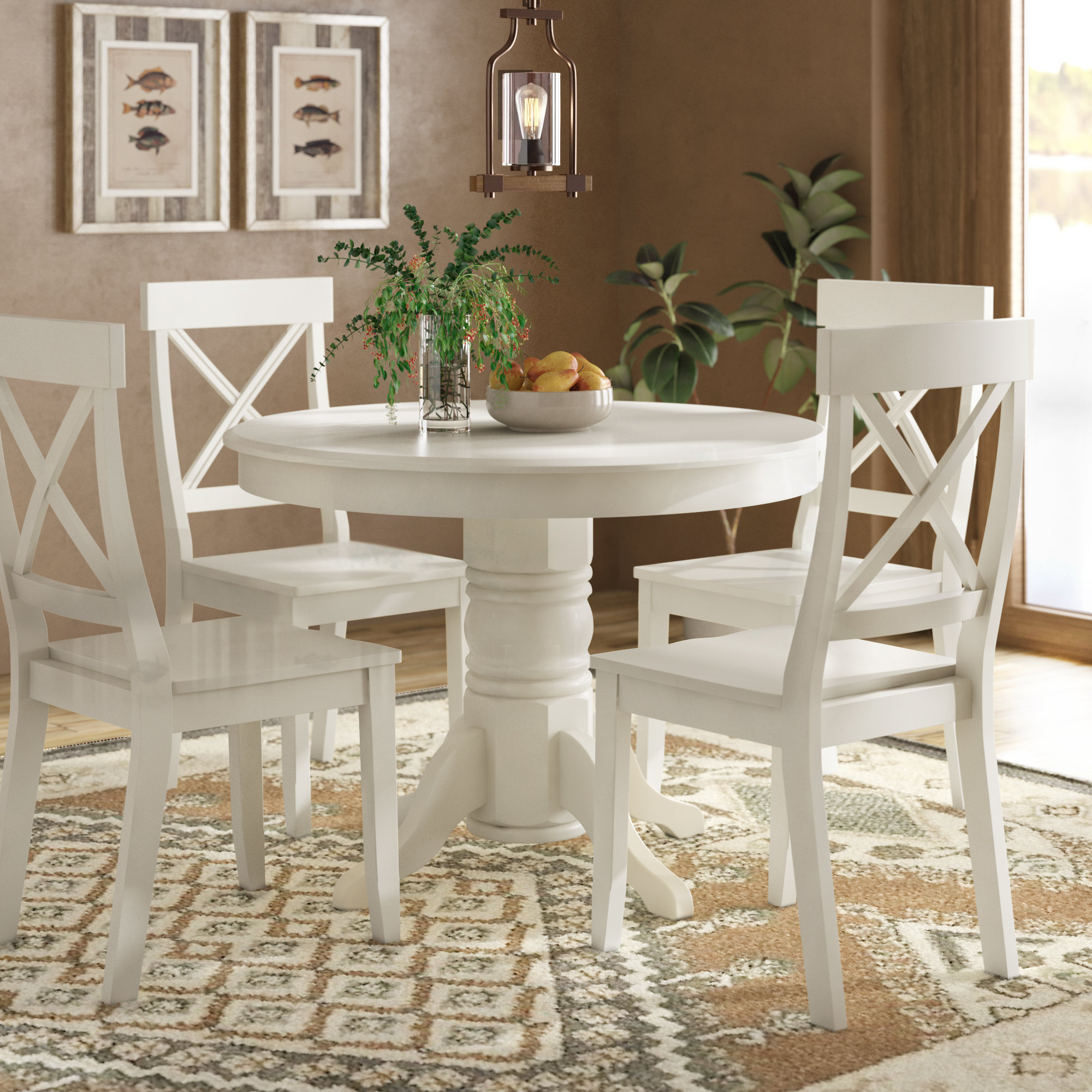 Best And Newest August Grove Standridge 5 Piece Dining Set & Reviews (View 13 of 25)