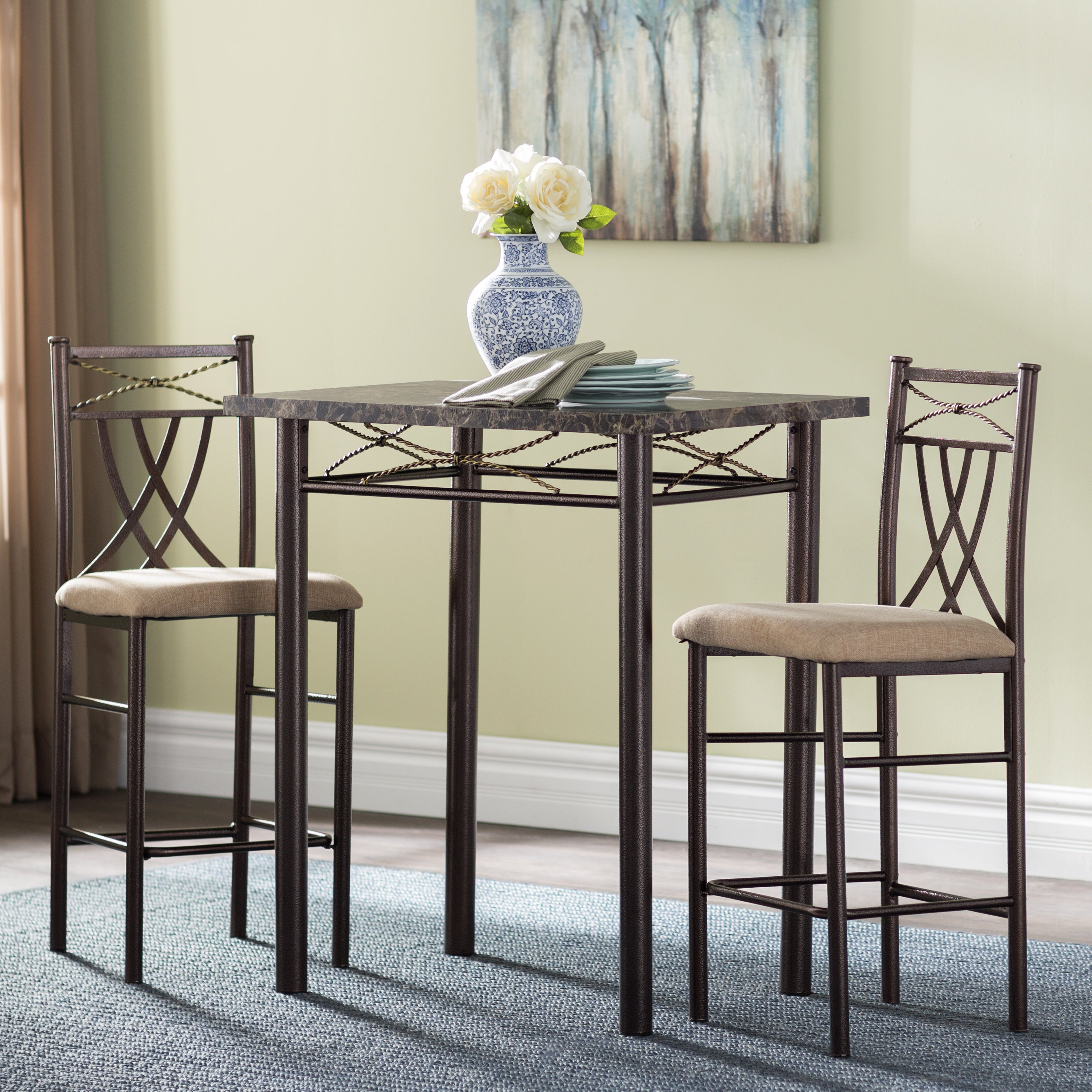 Best And Newest Cincinnati 3 Piece Dining Sets Regarding Andover Mills Cincinnati 3 Piece Dining Set & Reviews (View 3 of 25)