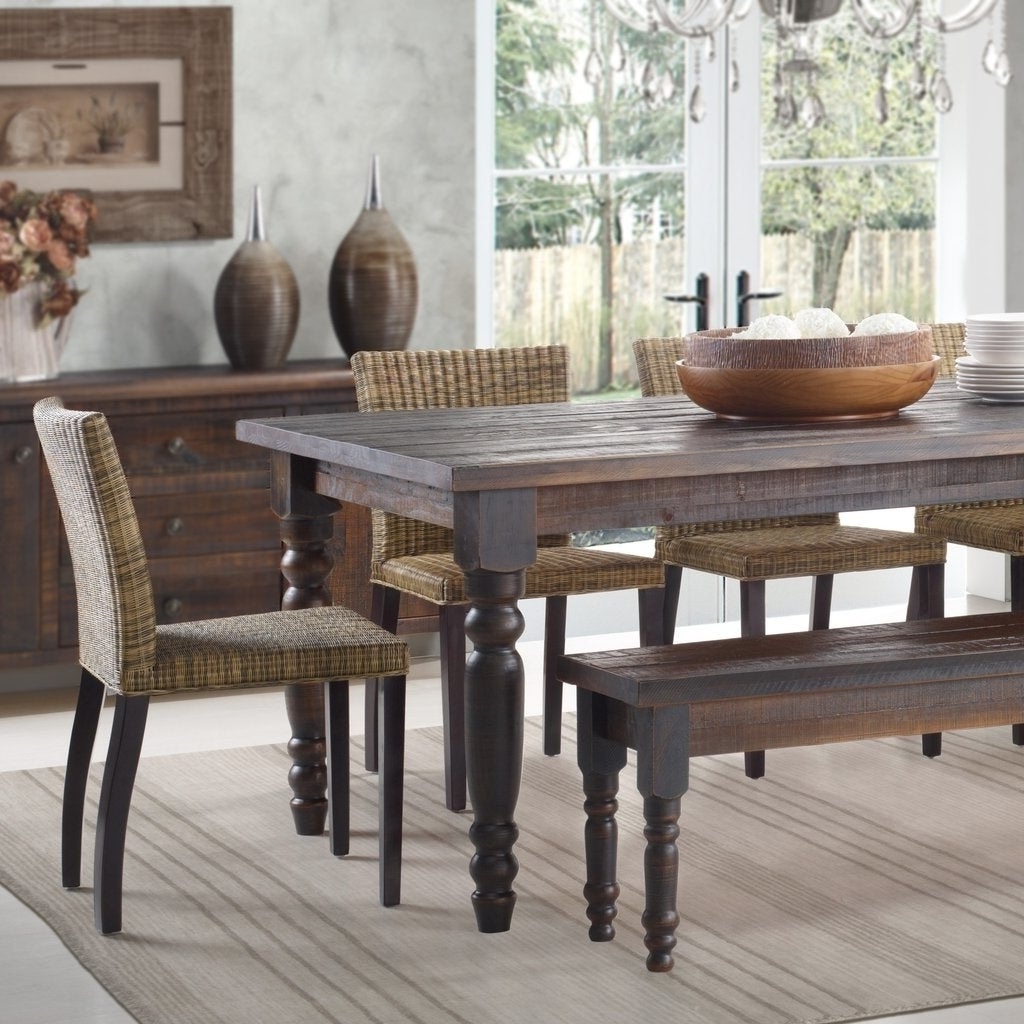 Best And Newest Evellen 5 Piece Solid Wood Dining Sets (Set Of 5) Pertaining To Shop Grain Wood Furniture Valerie 63 Inch Solid Wood Dining Table (View 4 of 25)