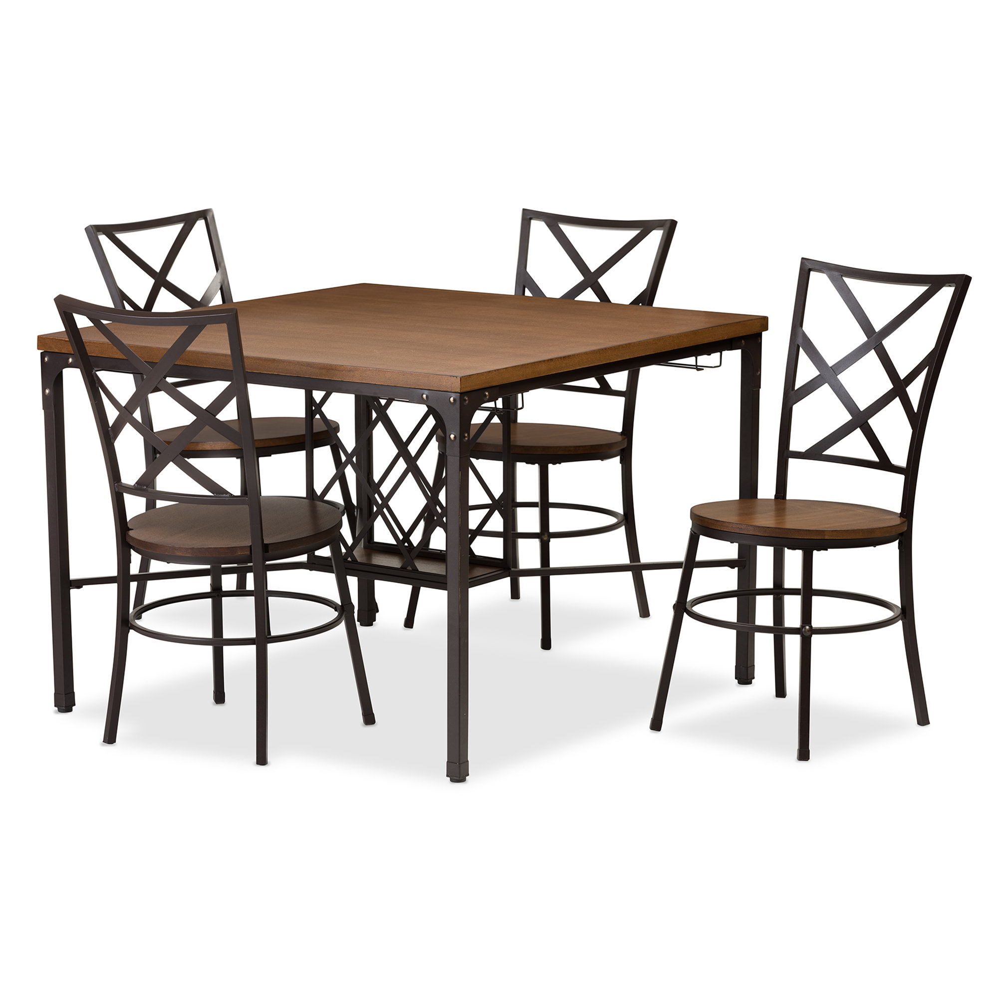 Best And Newest Latitude Run Calla 5 Piece Dining Set & Reviews (View 4 of 25)