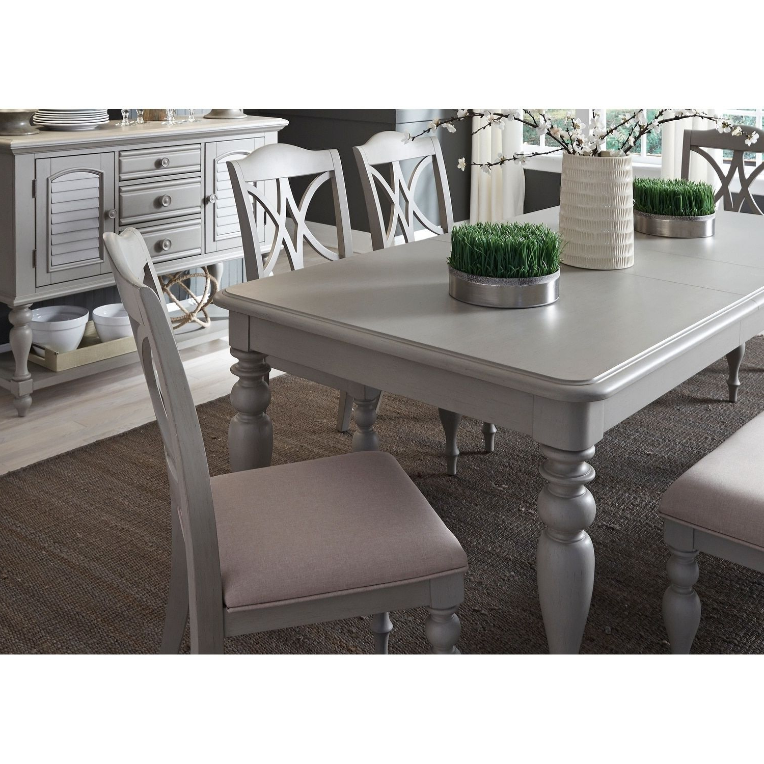 Best And Newest Liberty Summer House 40X78 Dove Gray Rectangular Dinette Table Intended For Lamotte 5 Piece Dining Sets (View 4 of 25)