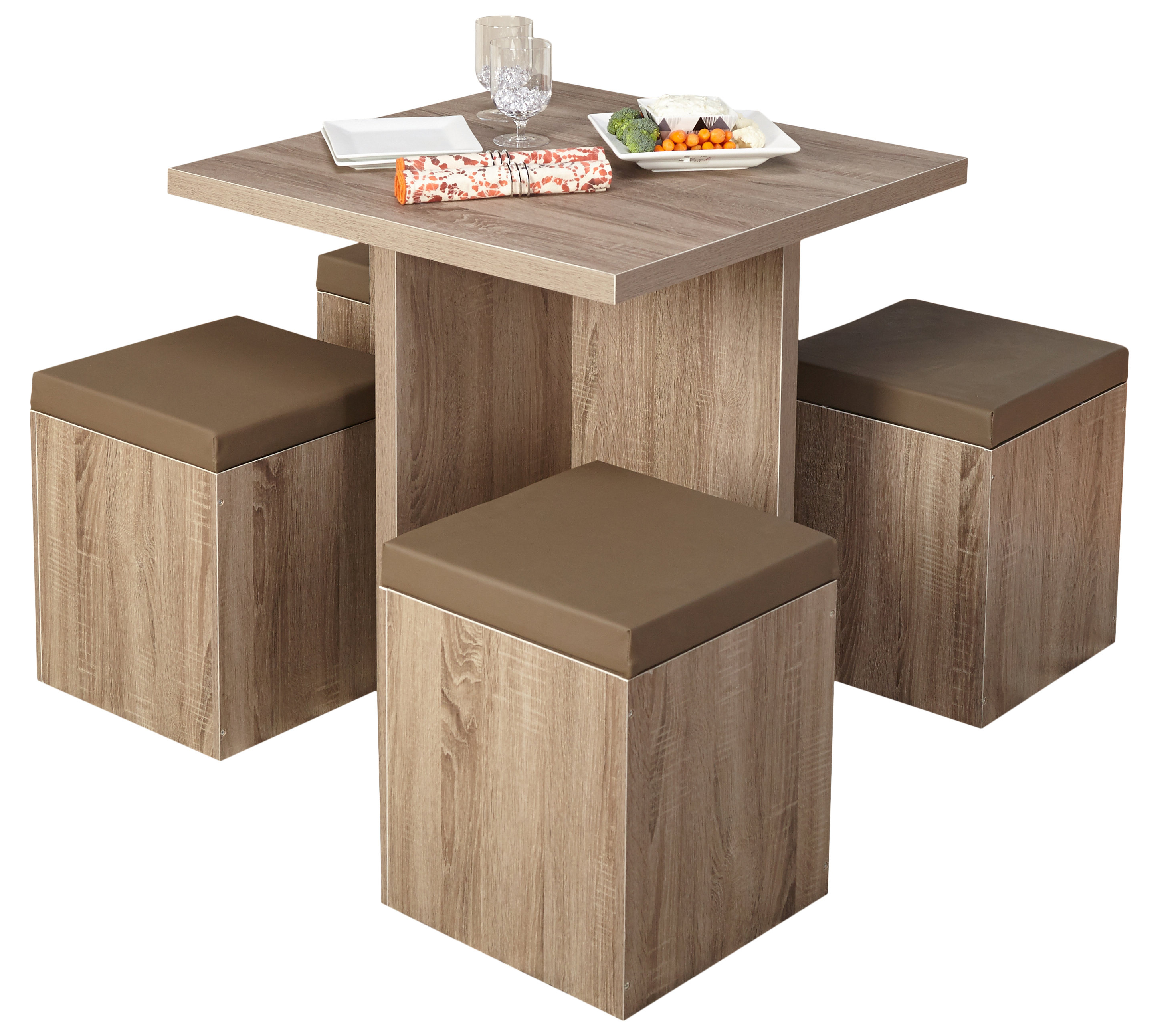 Best And Newest Ryker 3 Piece Dining Sets Regarding Badillo 5 Piece Dining Set & Reviews (View 23 of 25)