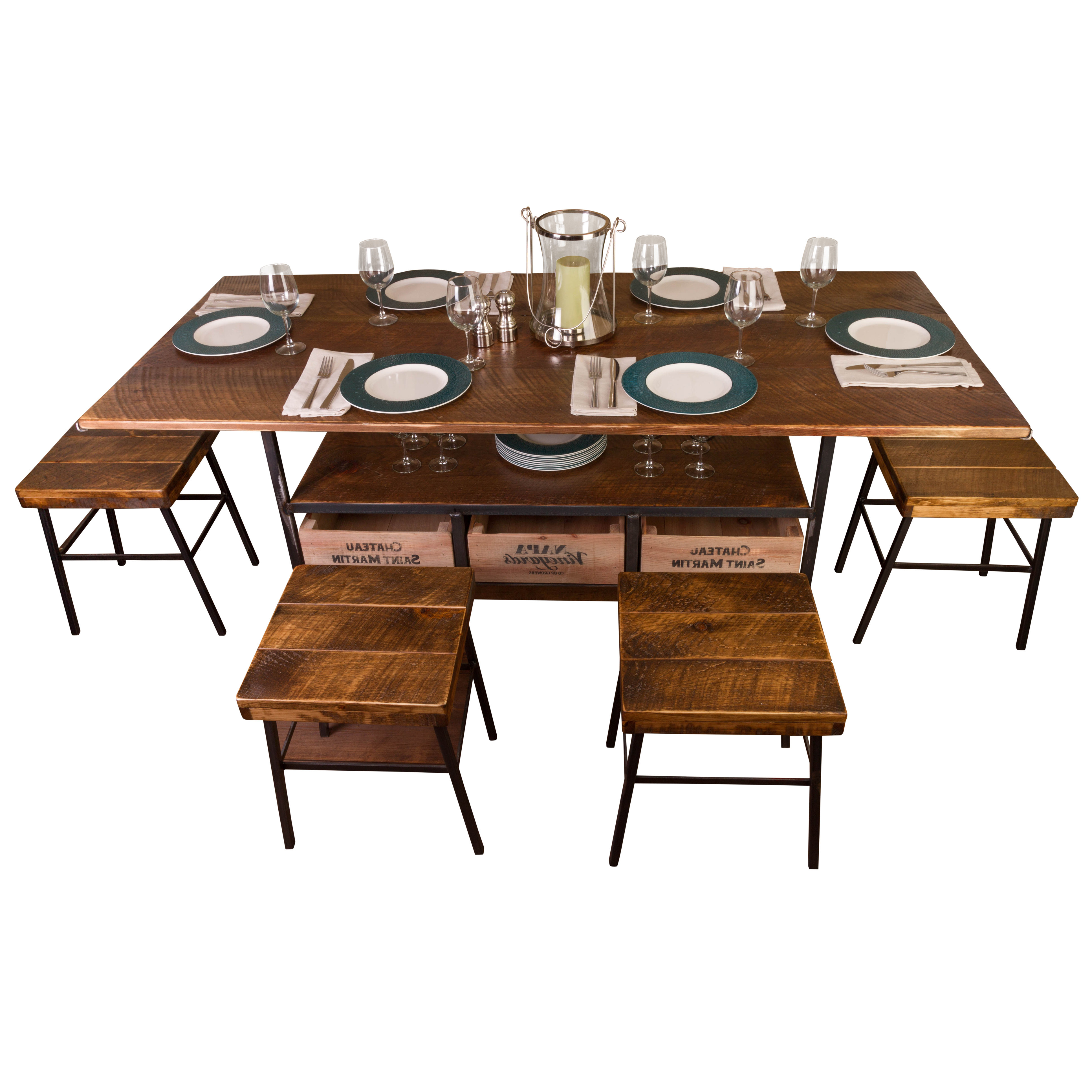 Best And Newest Shepparton Vintage 3 Piece Dining Sets With Vino Vintage Farm 7 Piece Dining Table (View 7 of 25)