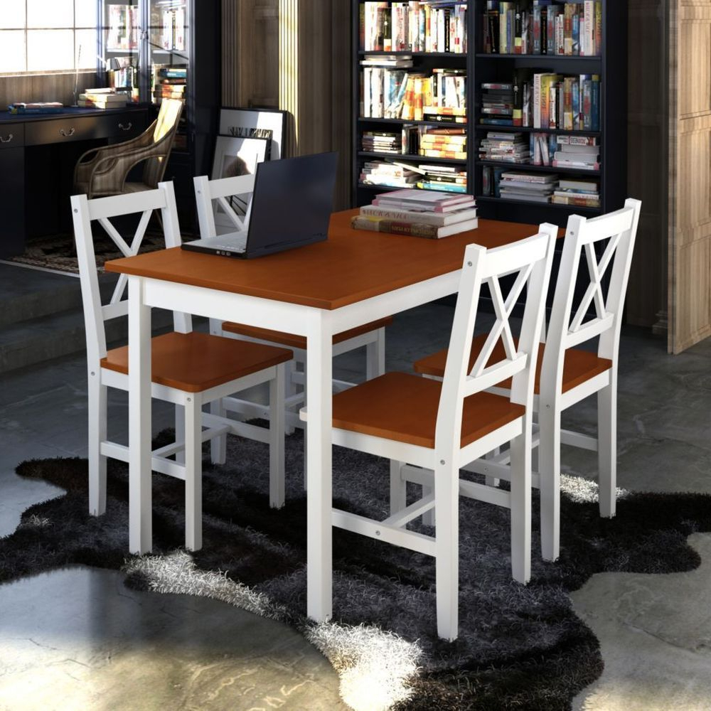 Best And Newest Sundberg 5 Piece Solid Wood Dining Sets In Kitchen Dining Table And Chairs Set Wooden Dining Room Furniture (View 4 of 25)