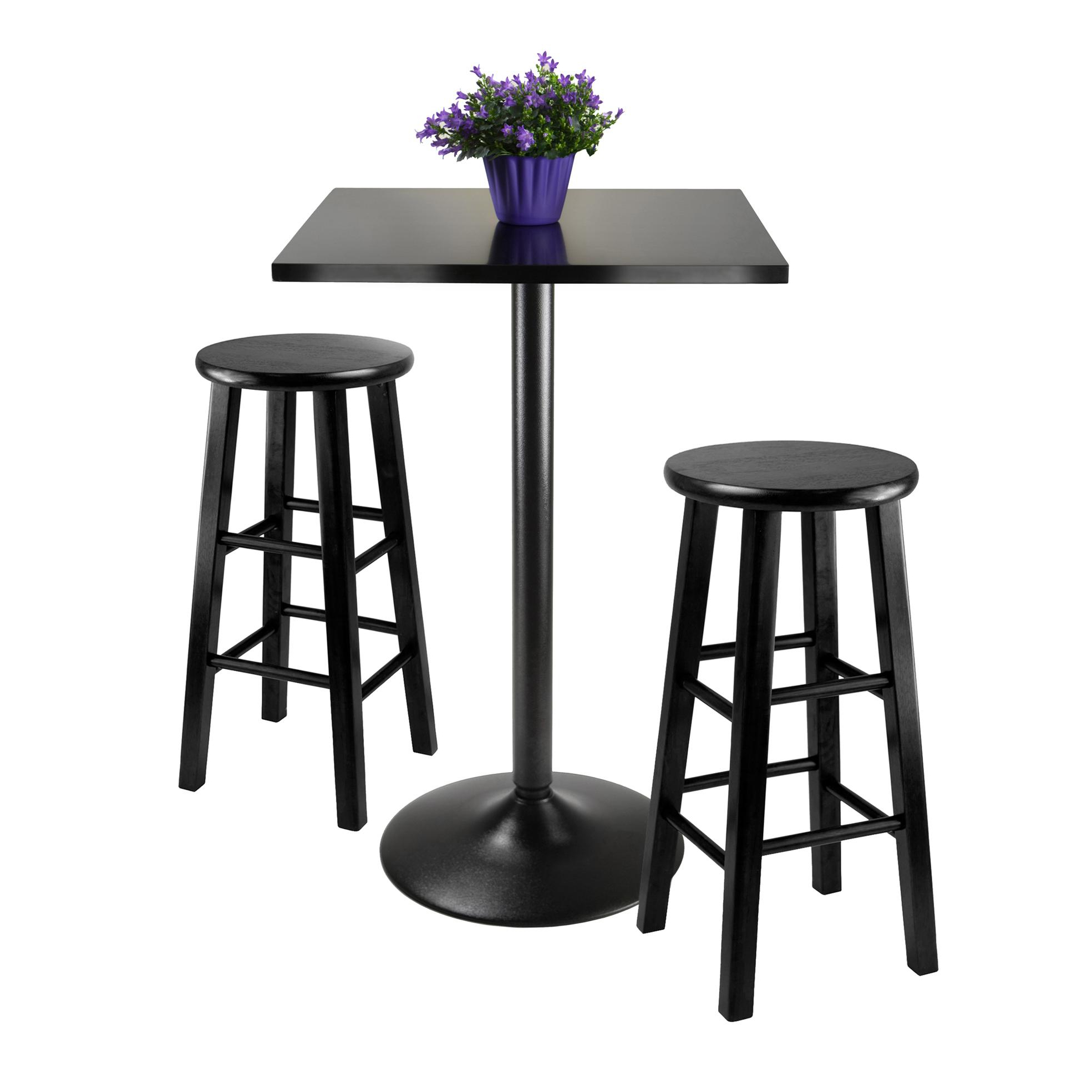Best And Newest Valladares 3 Piece Pub Table Sets With Regard To Amazon – Winsome Obsidian 3 Piece Pub Table Set – Table & Chair Sets (View 2 of 25)