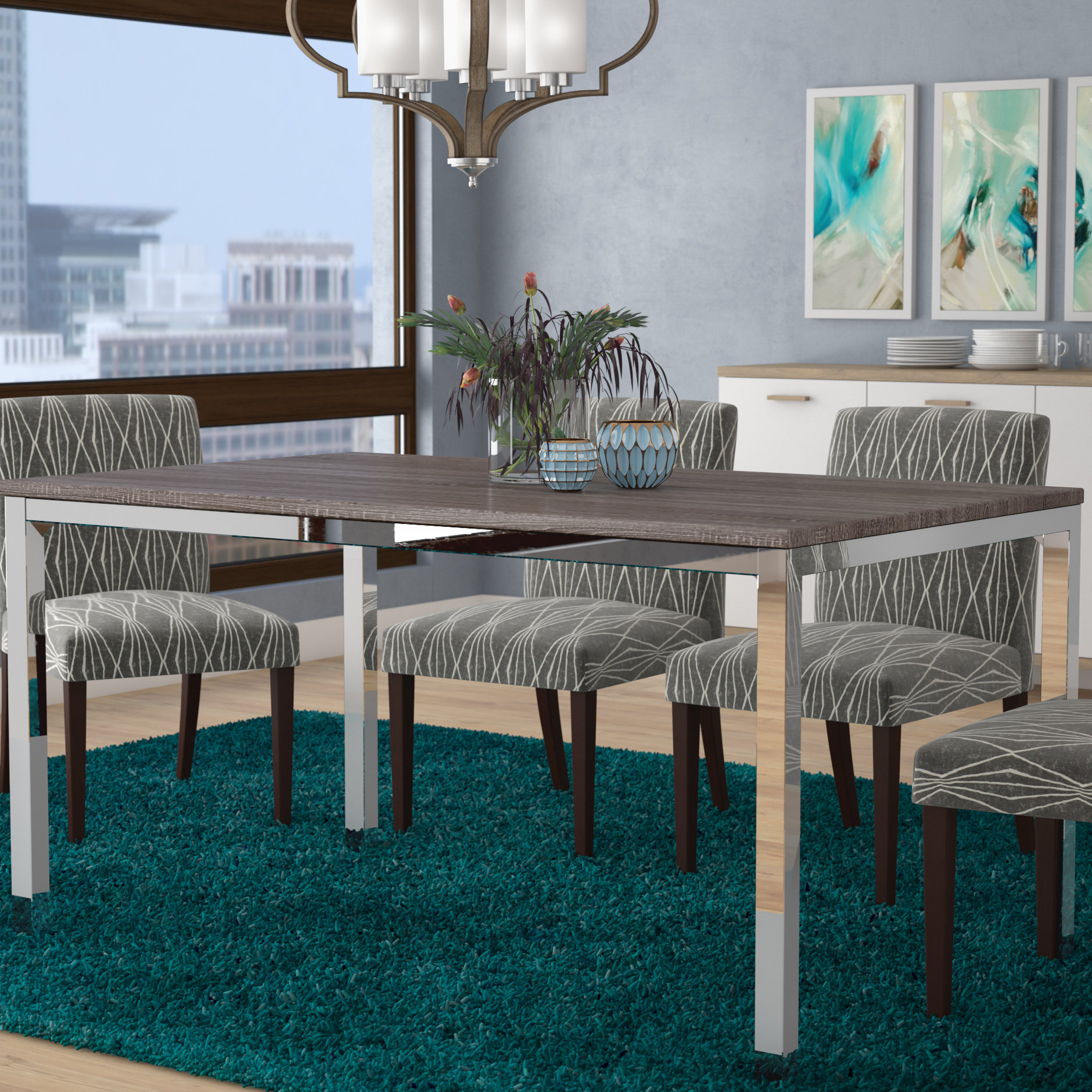 Best And Newest Wrought Studio Derouen Dining Table & Reviews (View 6 of 25)
