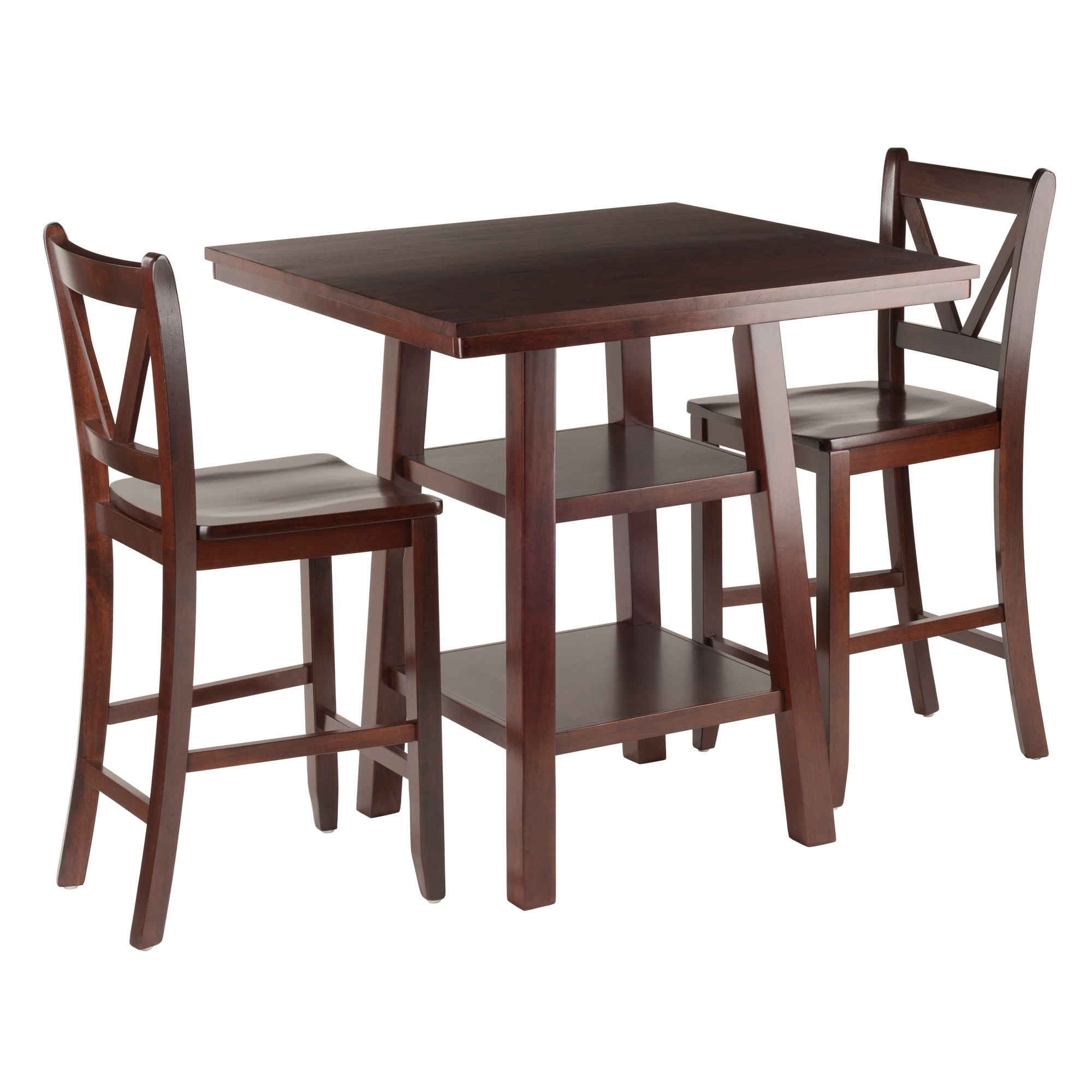 Bettencourt 3 Piece Counter Height Solid Wood Dining Sets For Most Recent Red Barrel Studio Pratt Street 3 Piece Dining Set Rdbs (View 23 of 25)