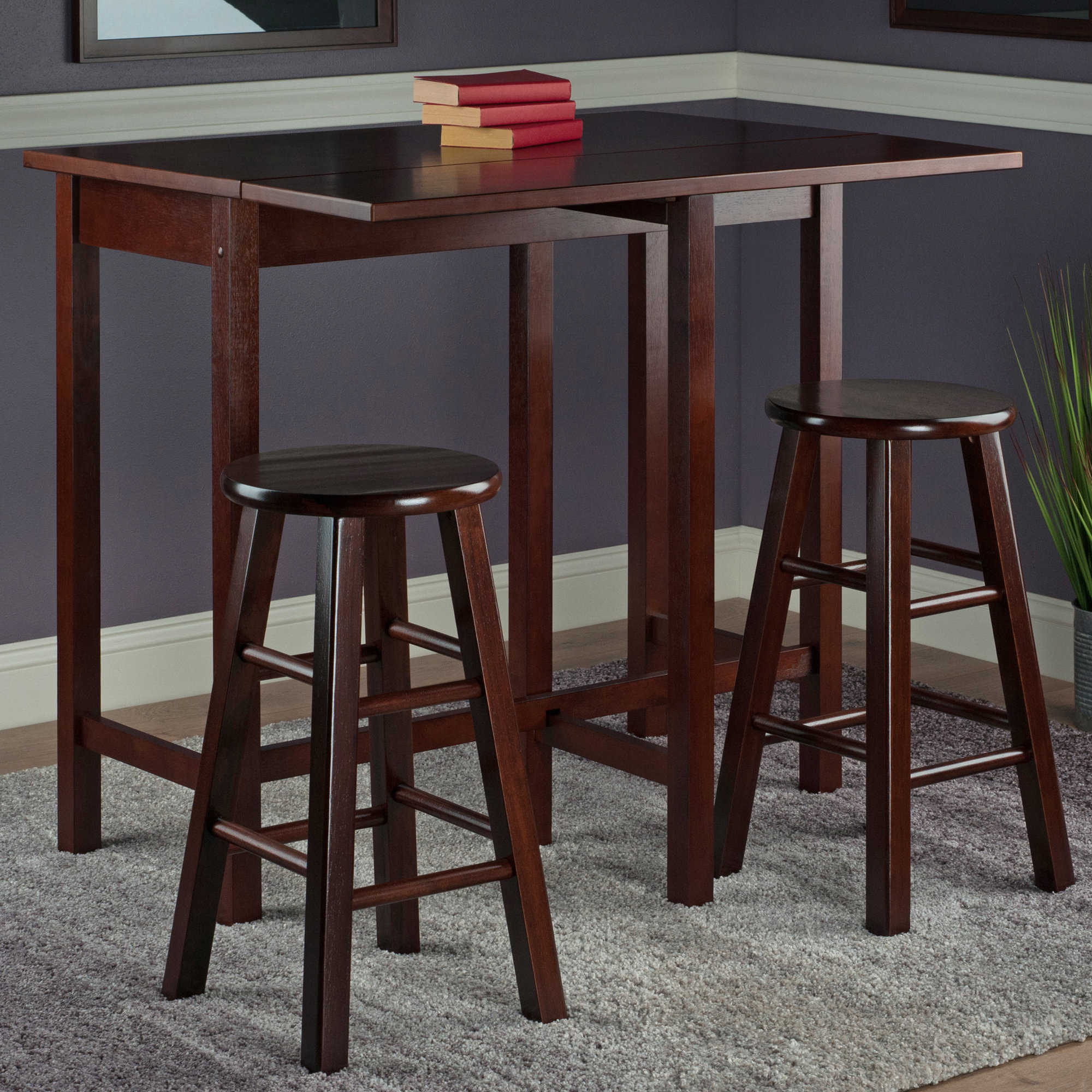 Bettencourt 3 Piece Counter Height Solid Wood Dining Sets With Current Red Barrel Studio Bettencourt 3 Piece Counter Height Pub Table Set (View 2 of 25)