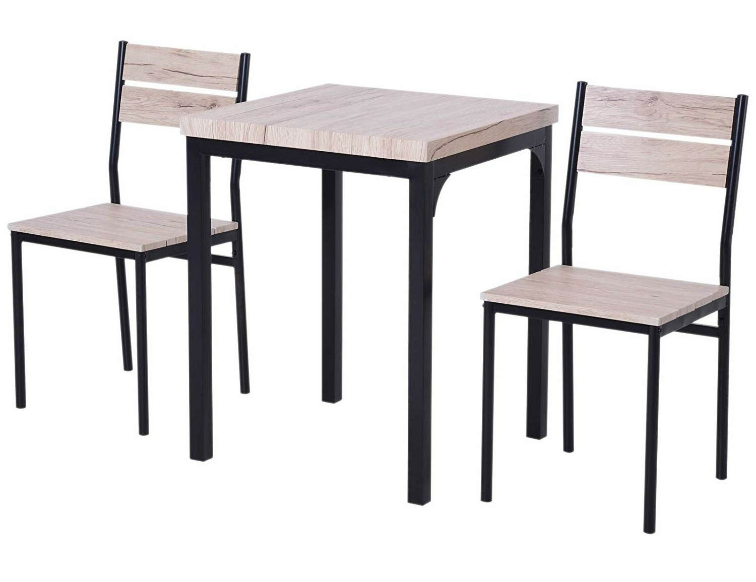 Biggs 5 Piece Counter Height Solid Wood Dining Sets (Set Of 5) Throughout Preferred Gracie Oaks Staley Rustic Country 3 Piece Dining Set (View 16 of 25)
