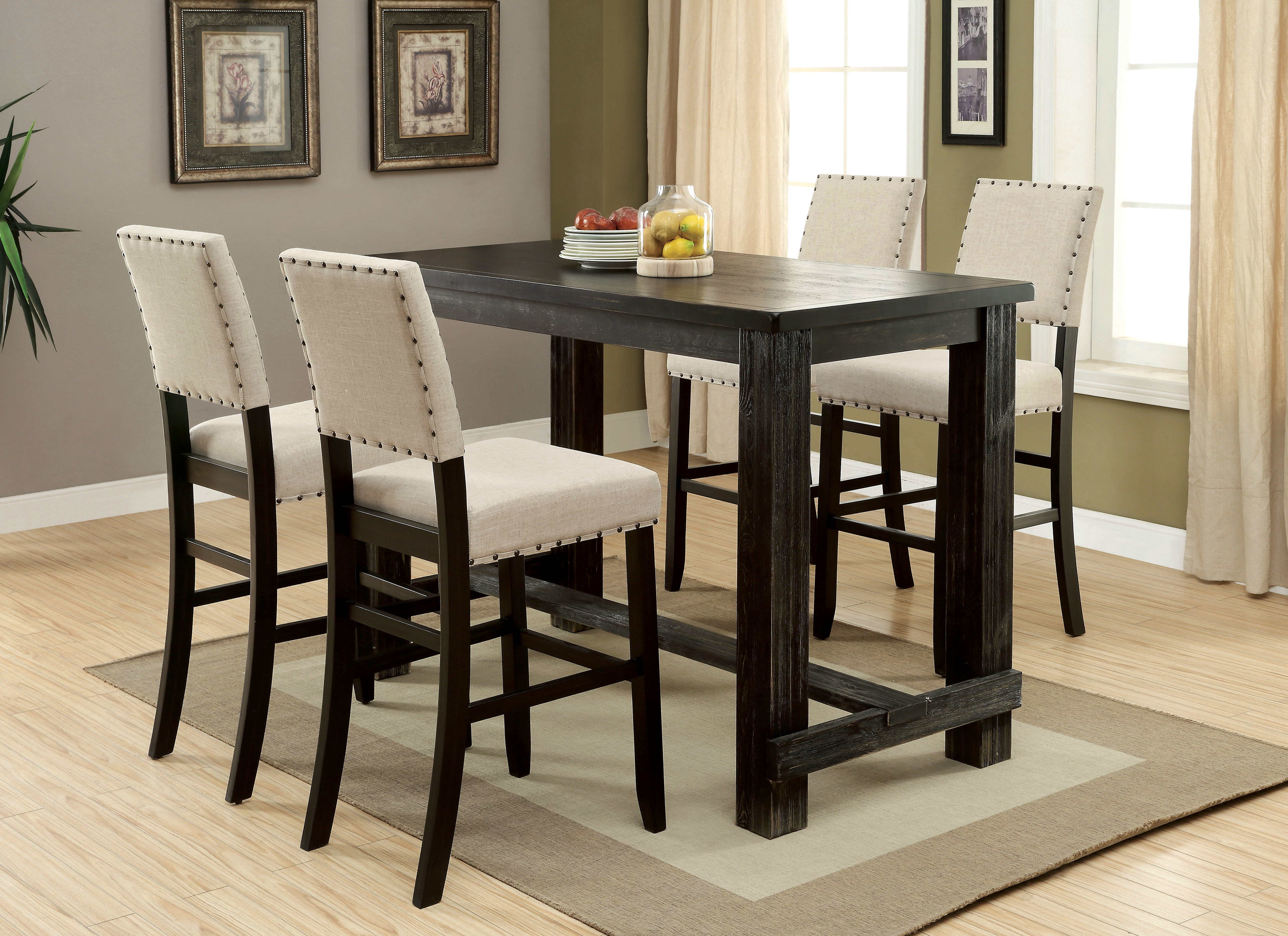 Birch Lane™ Heritage Calila 5 Piece Pub Table Set & Reviews (View 13 of 25)