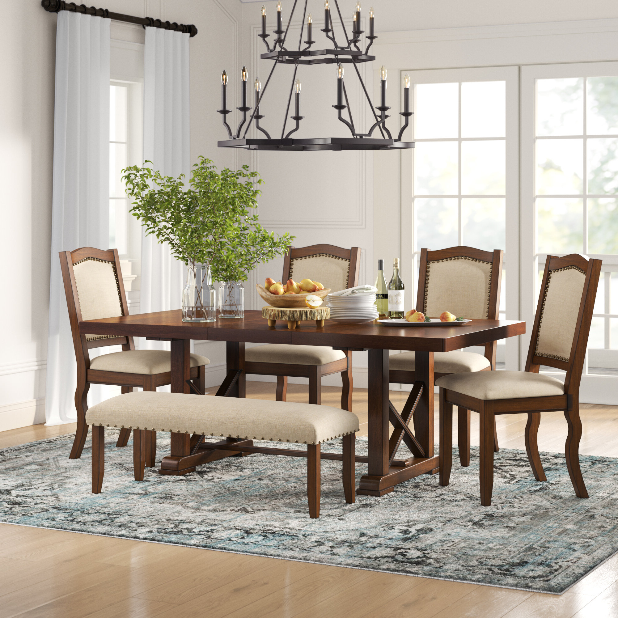 Birch Lane™ Heritage Chevaliers Modern 6 Piece Dining Set & Reviews Within 2019 Anette 3 Piece Counter Height Dining Sets (View 15 of 25)