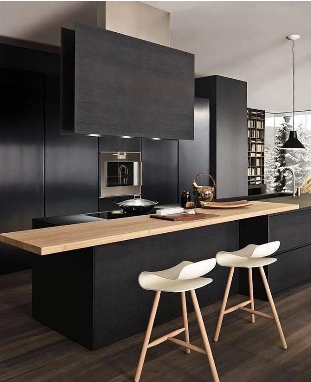 Black Kitchen Cabinets, Modern (View 16 of 25)