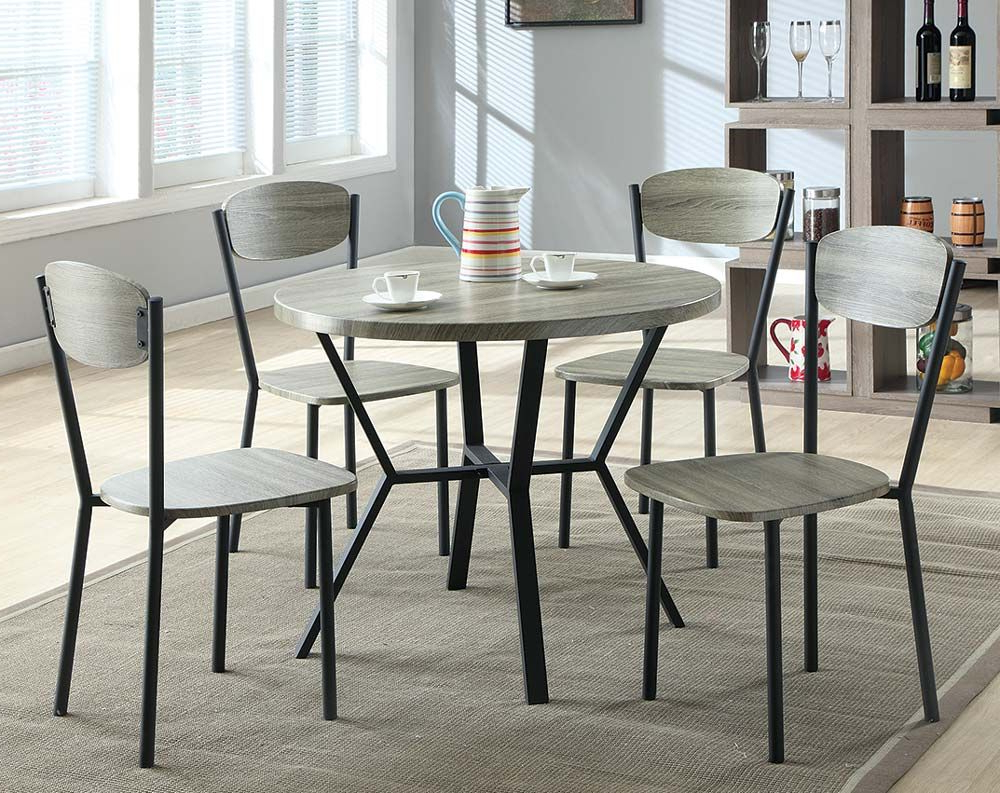 """Blake 5 Piece Dinette Set $188 American Freight 36"""" Table (View 5 of 25)"""