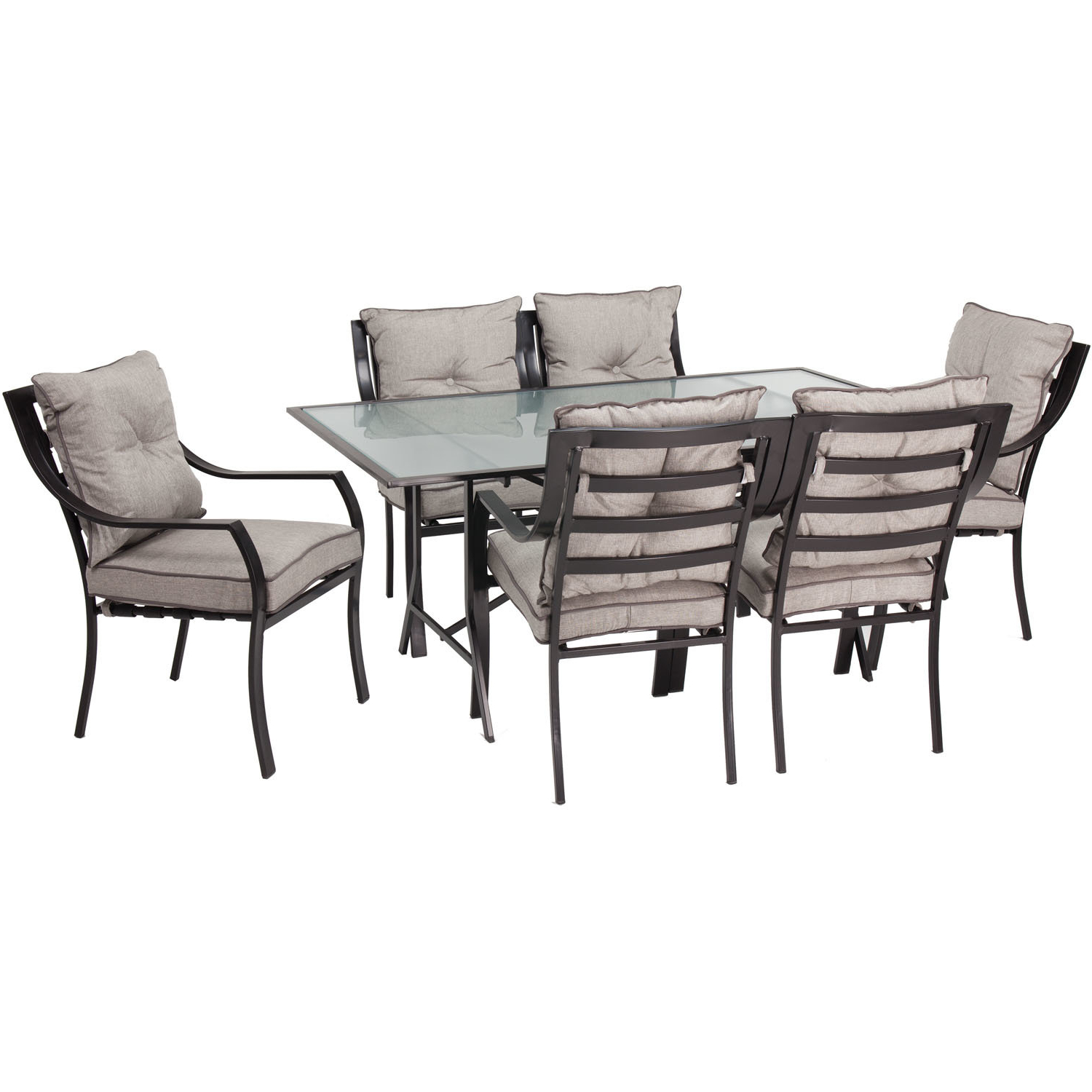Bozarth 7 Piece Dining Set With Cushion (View 2 of 25)