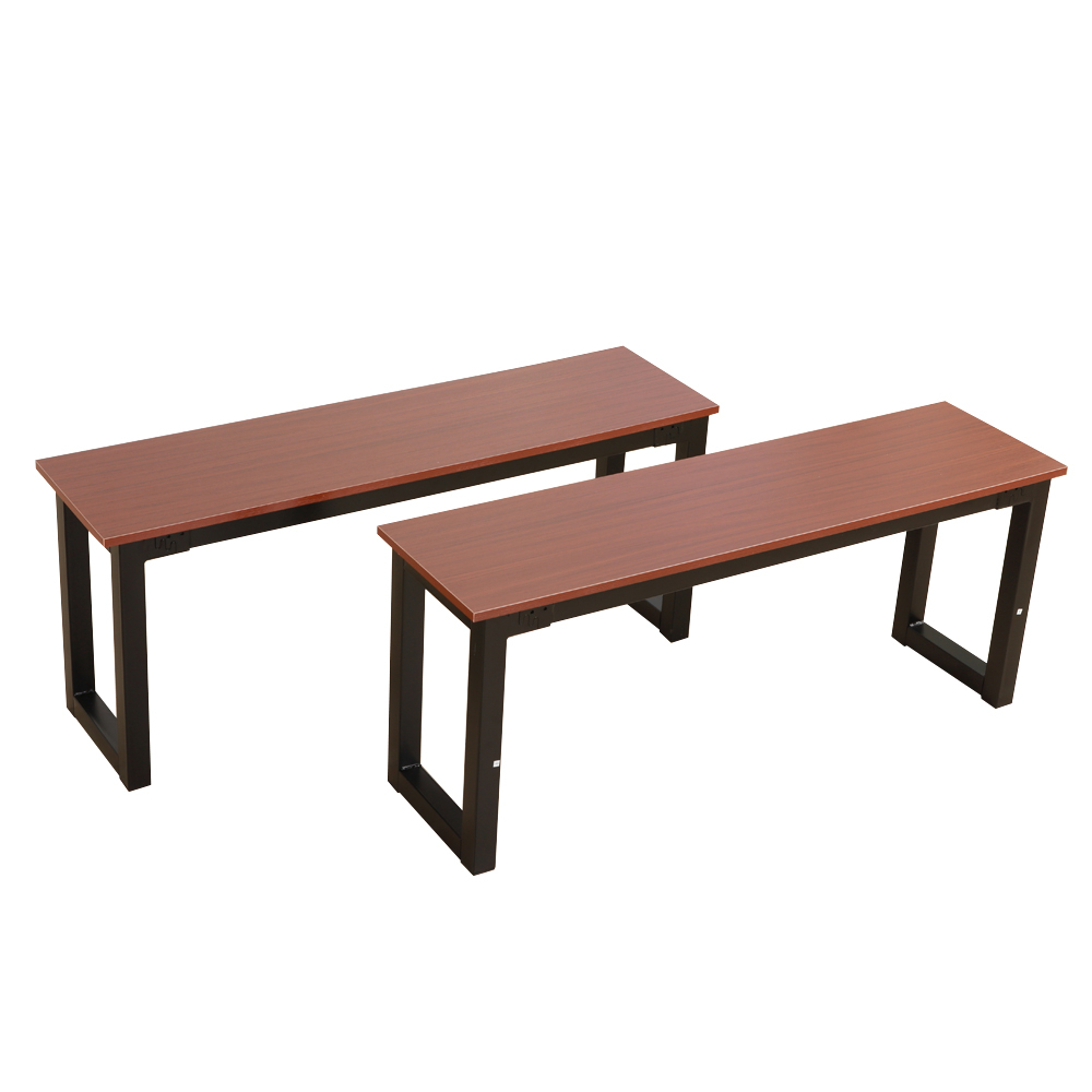 Brown Dining Table Set 3 Piece Benches Breakfast Nook Steel Frame Within Best And Newest Lillard 3 Piece Breakfast Nook Dining Sets (View 4 of 25)