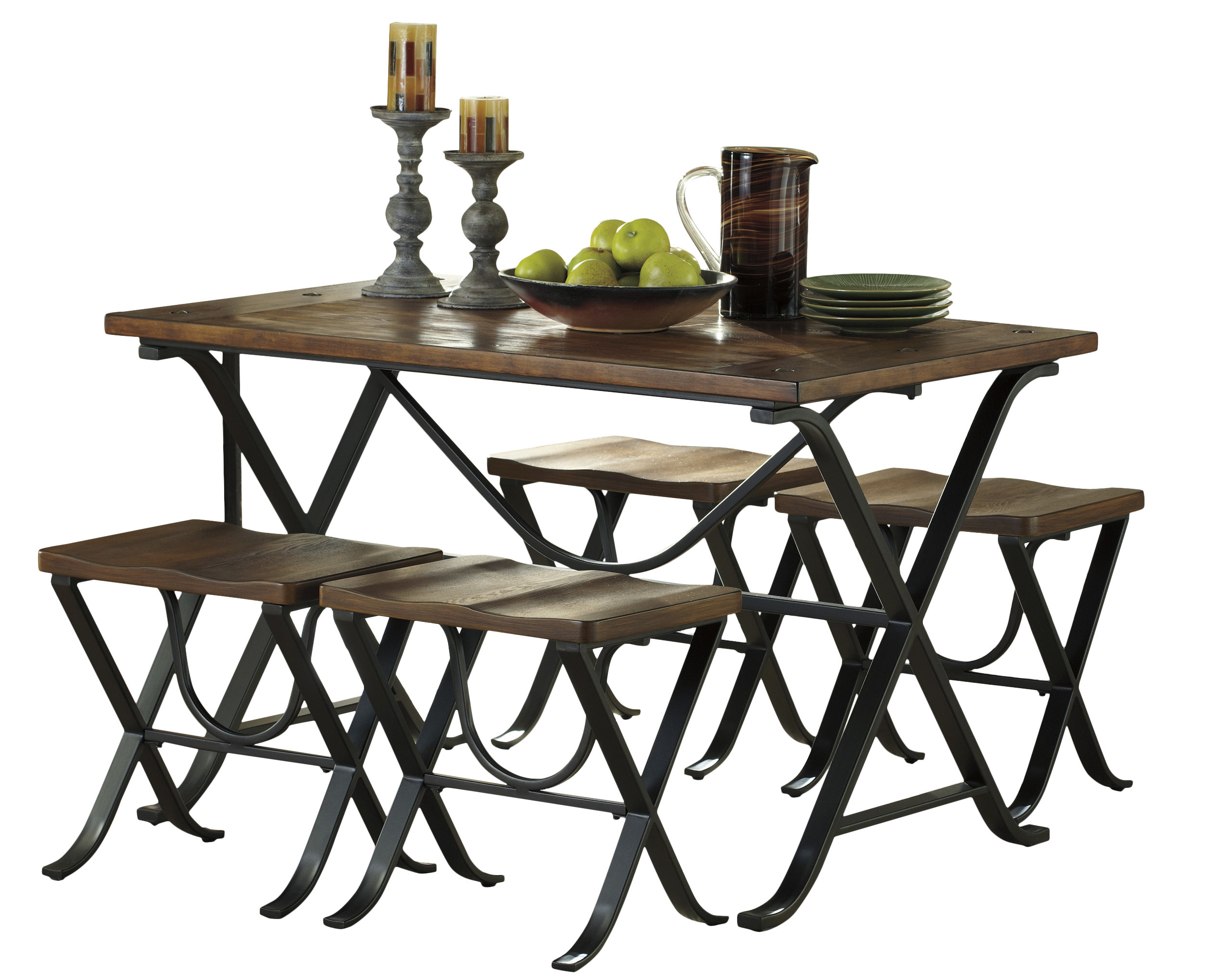 Bryson 5 Piece Dining Sets With Regard To Popular Aguiar 5 Piece Dining Set (View 23 of 25)