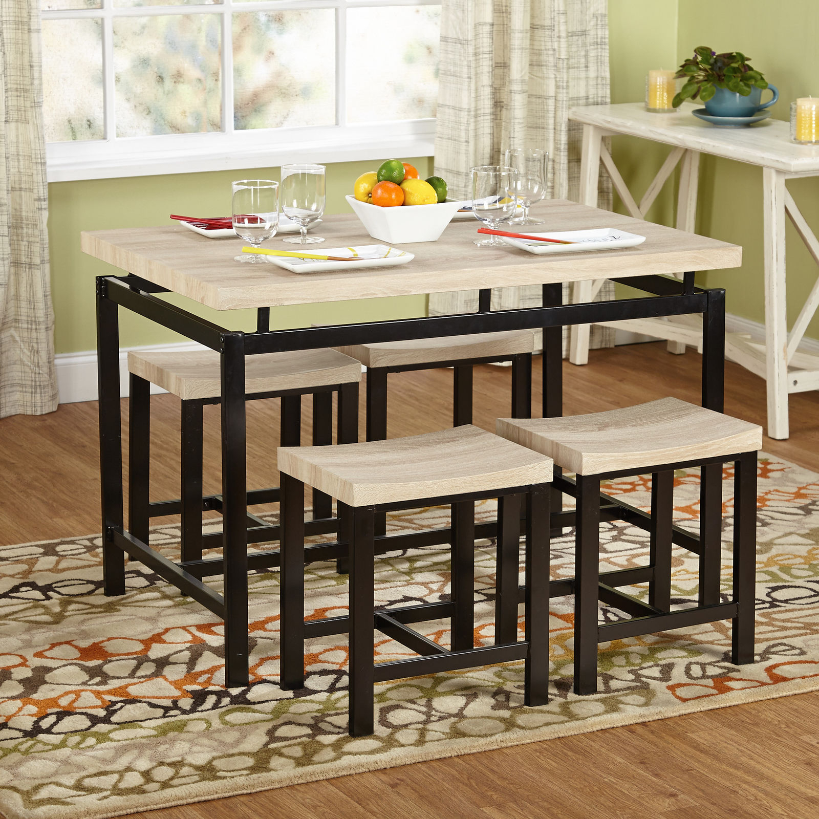 Bryson 5 Piece Dining Sets With Regard To Well Liked Wrought Studio Bryson 5 Piece Dining Set – Walmart (View 16 of 25)