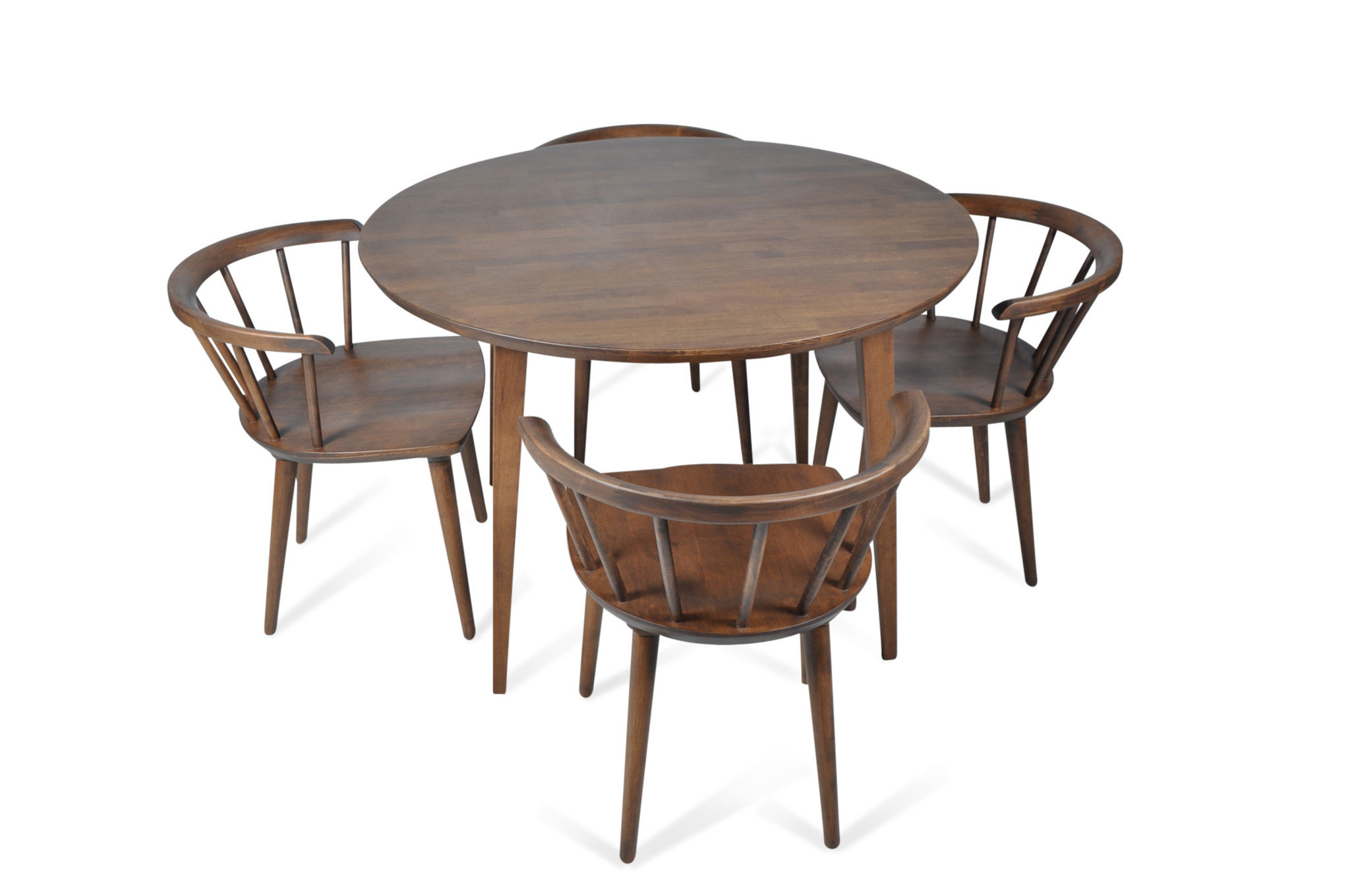 Burgan 5 Piece Solid Wood Breakfast Nook Dining Set & Reviews Throughout Famous 5 Piece Breakfast Nook Dining Sets (View 13 of 25)