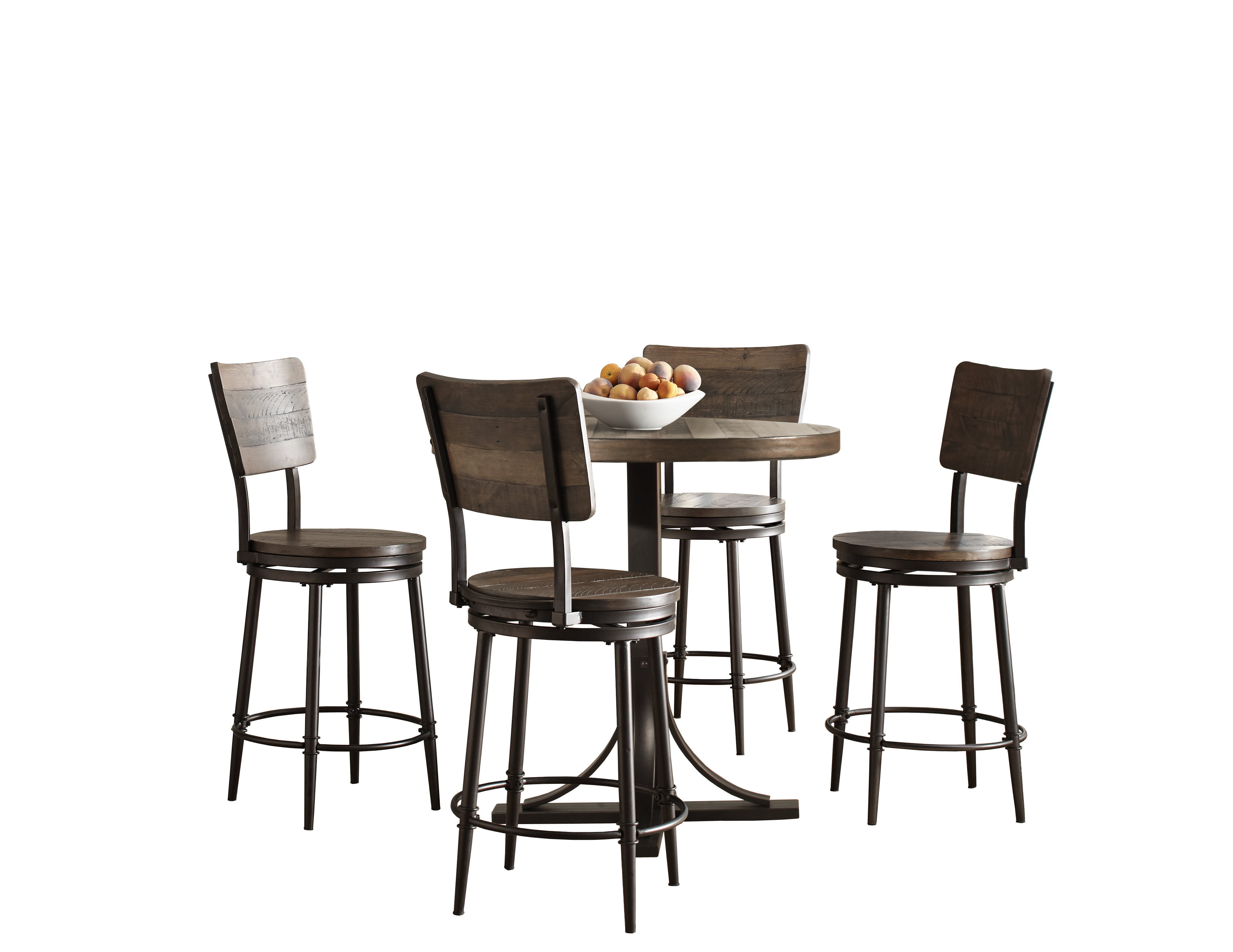 Calla 5 Piece Dining Sets Pertaining To Widely Used Gracie Oaks Putney 5 Piece Counter Height Breakfast Nook Dining Set (View 6 of 25)