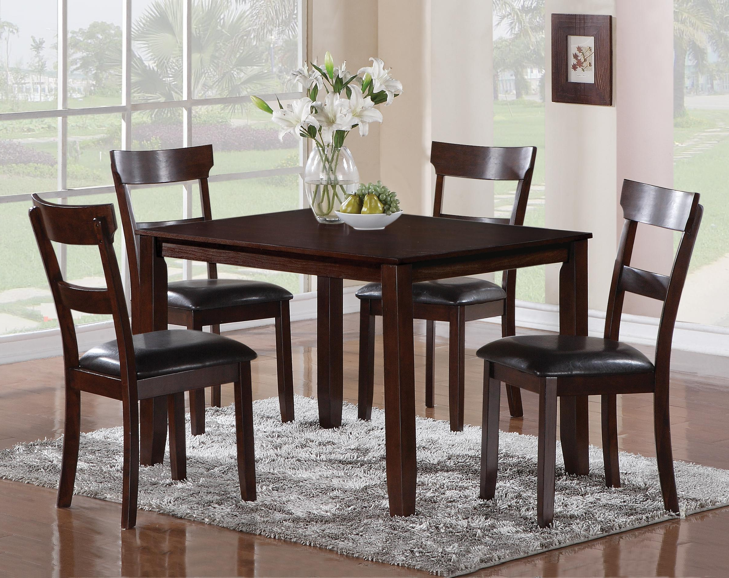 Cargo 5 Piece Dining Sets Intended For Most Recently Released Crown Mark Henderson 2254Set 5 Piece Dining Table And Chair Set (View 7 of 25)