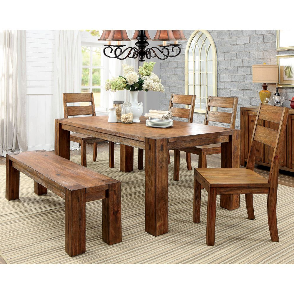 Casiano 5 Piece Dining Sets For Trendy Make Your Dining Area More Inviting With This Rustic Table From (View 4 of 25)
