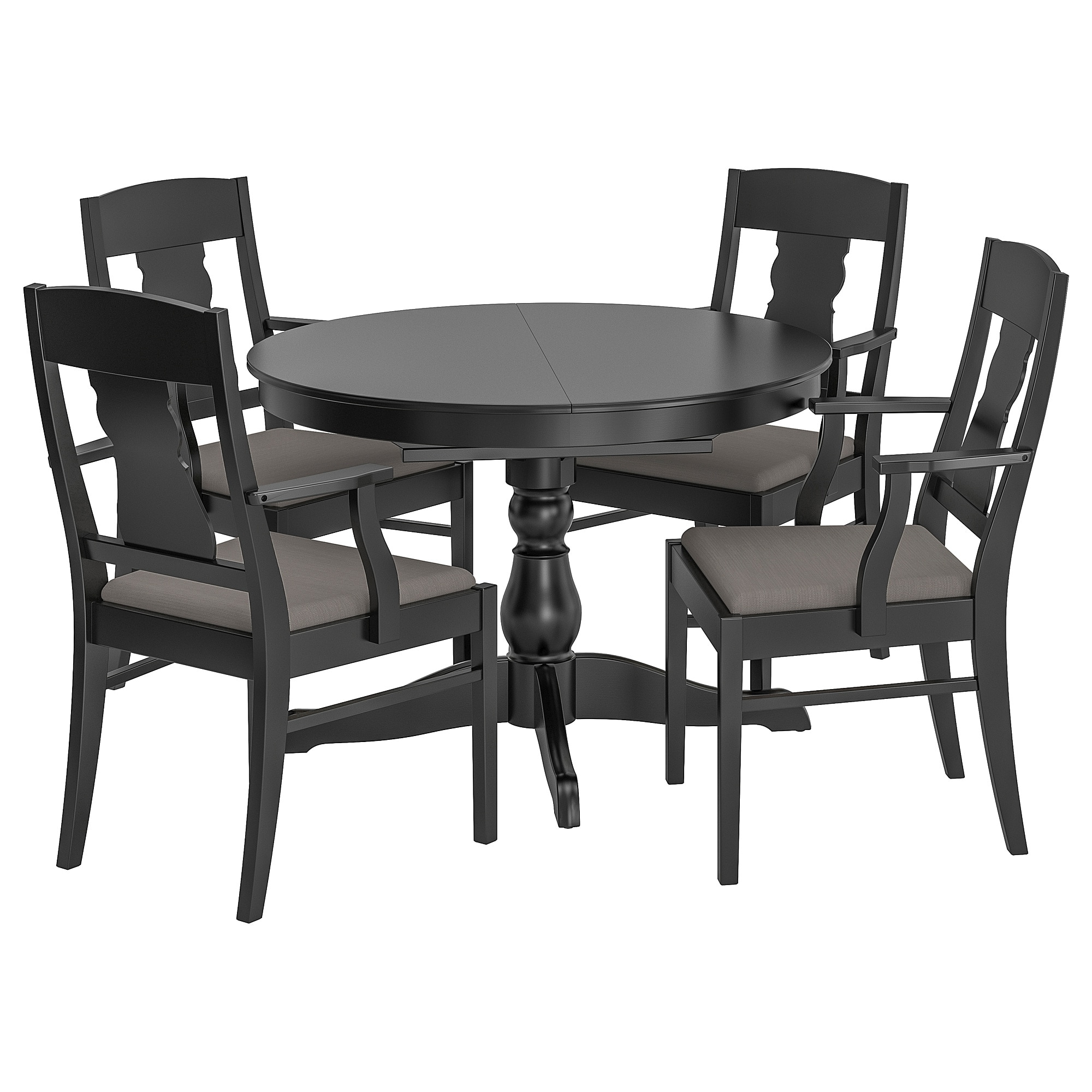 Castellanos Modern 5 Piece Counter Height Dining Sets Throughout Well Liked Ingatorp / Ingatorp Table And 4 Chairs – Black – Ikea (View 20 of 25)