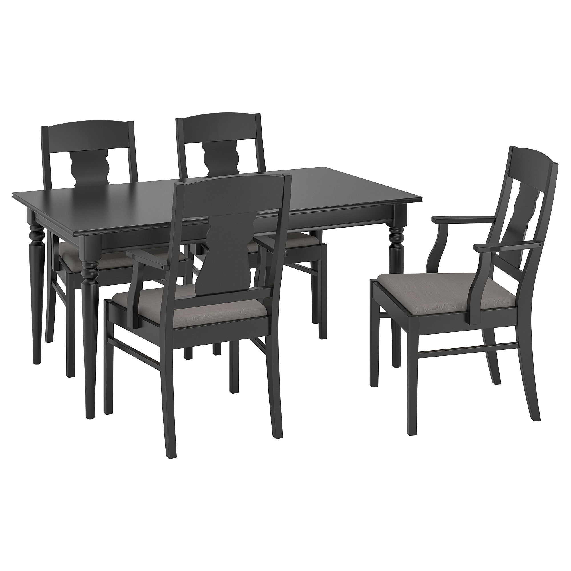 Castellanos Modern 5 Piece Counter Height Dining Sets With Newest Ingatorp / Ingatorp Table And 4 Chairs – Black – Ikea (View 23 of 25)