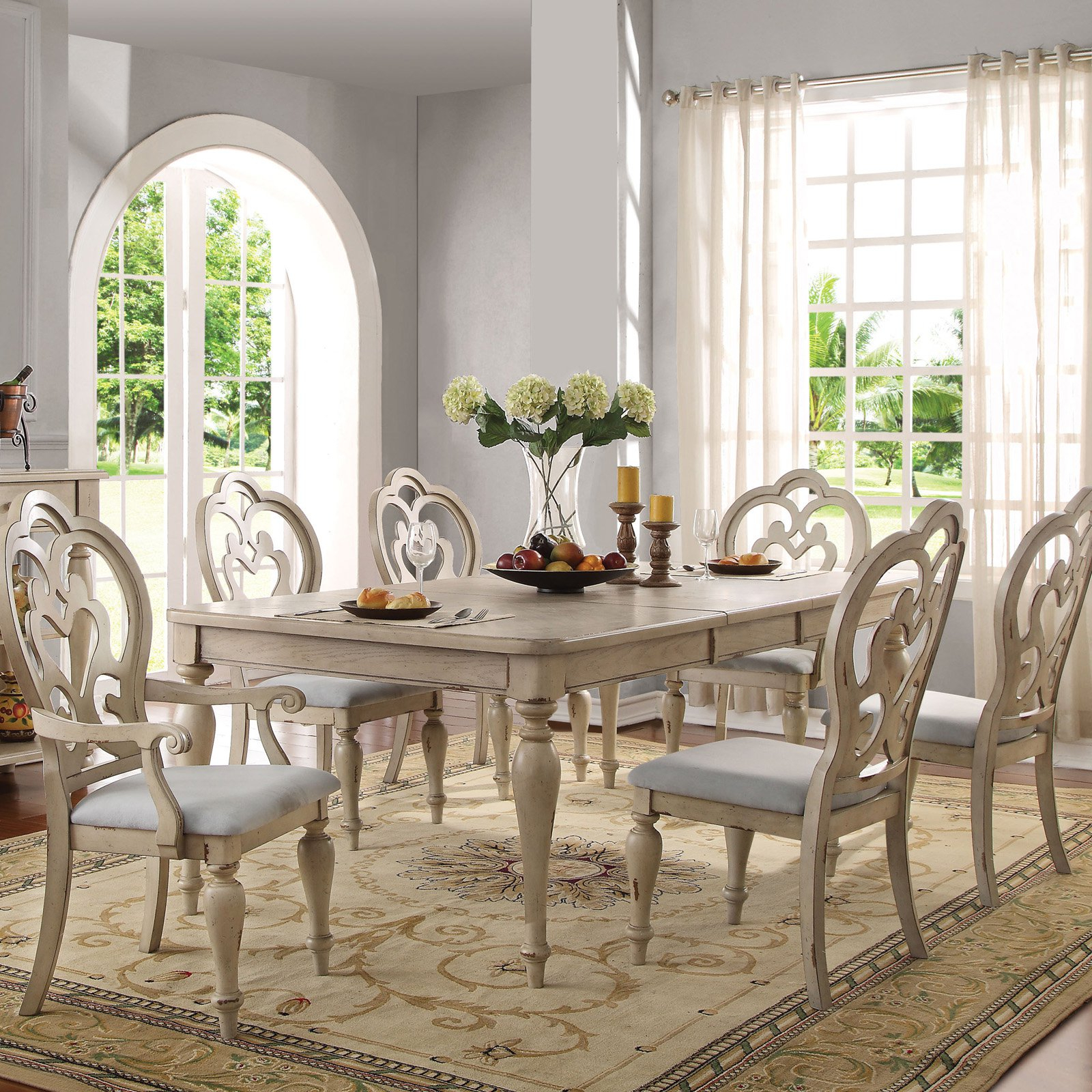 Chelmsford 3 Piece Dining Sets Intended For Preferred Acme Furniture Abelin Dining Table In (View 7 of 25)