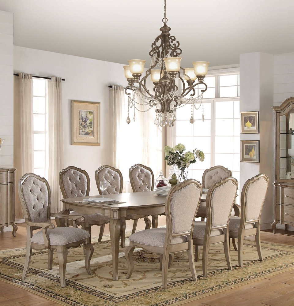 Chelmsford 3 Piece Dining Sets Regarding Current Amazon – Acme Chelmsford Antique Taupe Dining Table – Tables (View 4 of 25)