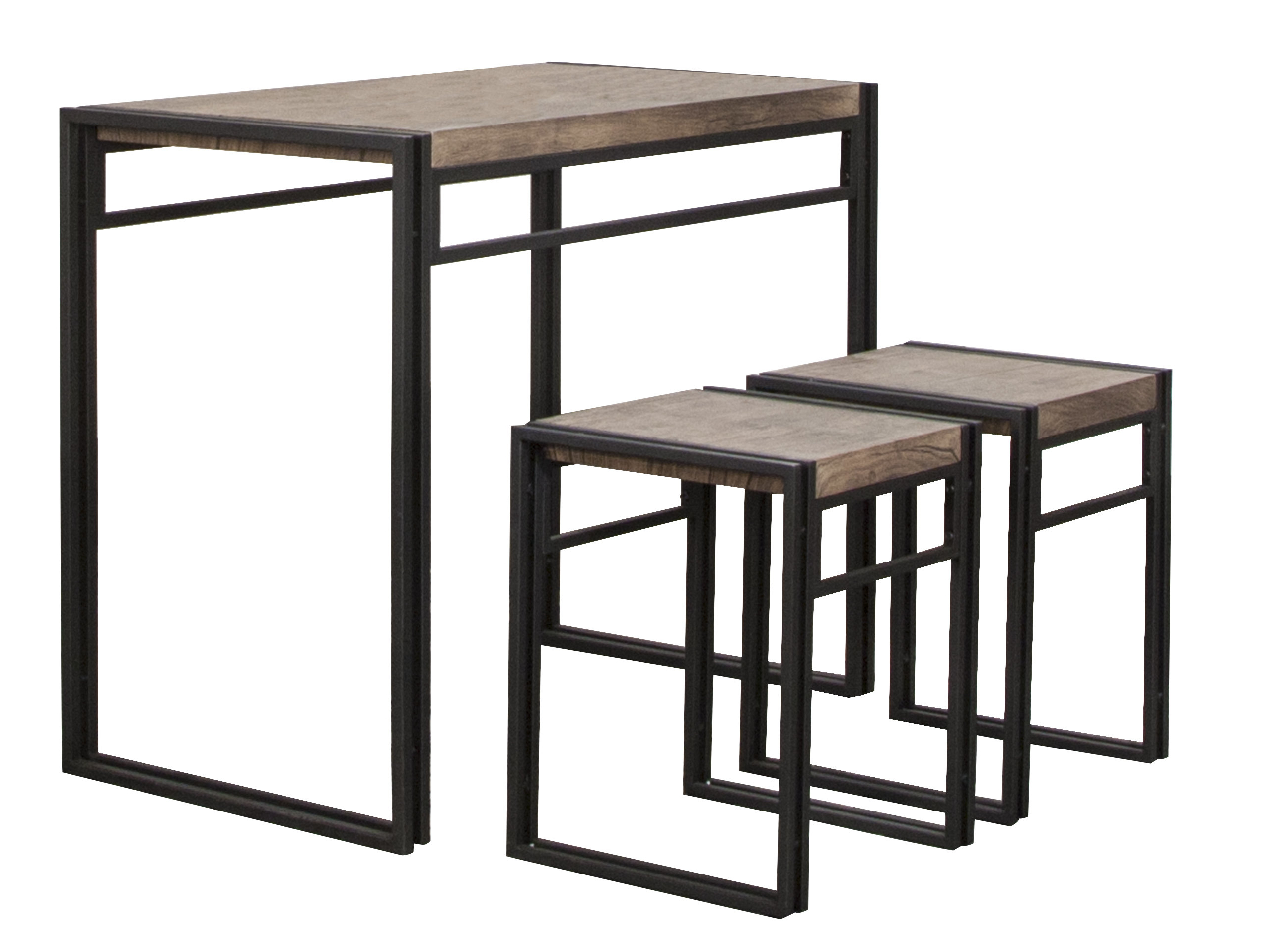 Chitwood 3 Piece Counter Height Dining Set Pertaining To 2019 Debby Small Space 3 Piece Dining Sets (View 10 of 25)