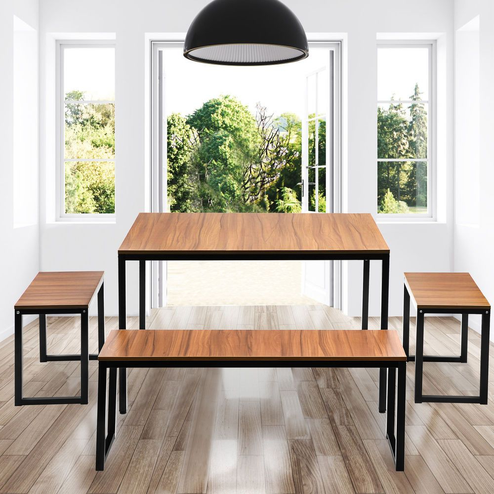 College Diningroom Furniture 4 Piece Dining Set With 2 Stools For Regarding Well Liked John 4 Piece Dining Sets (View 2 of 25)