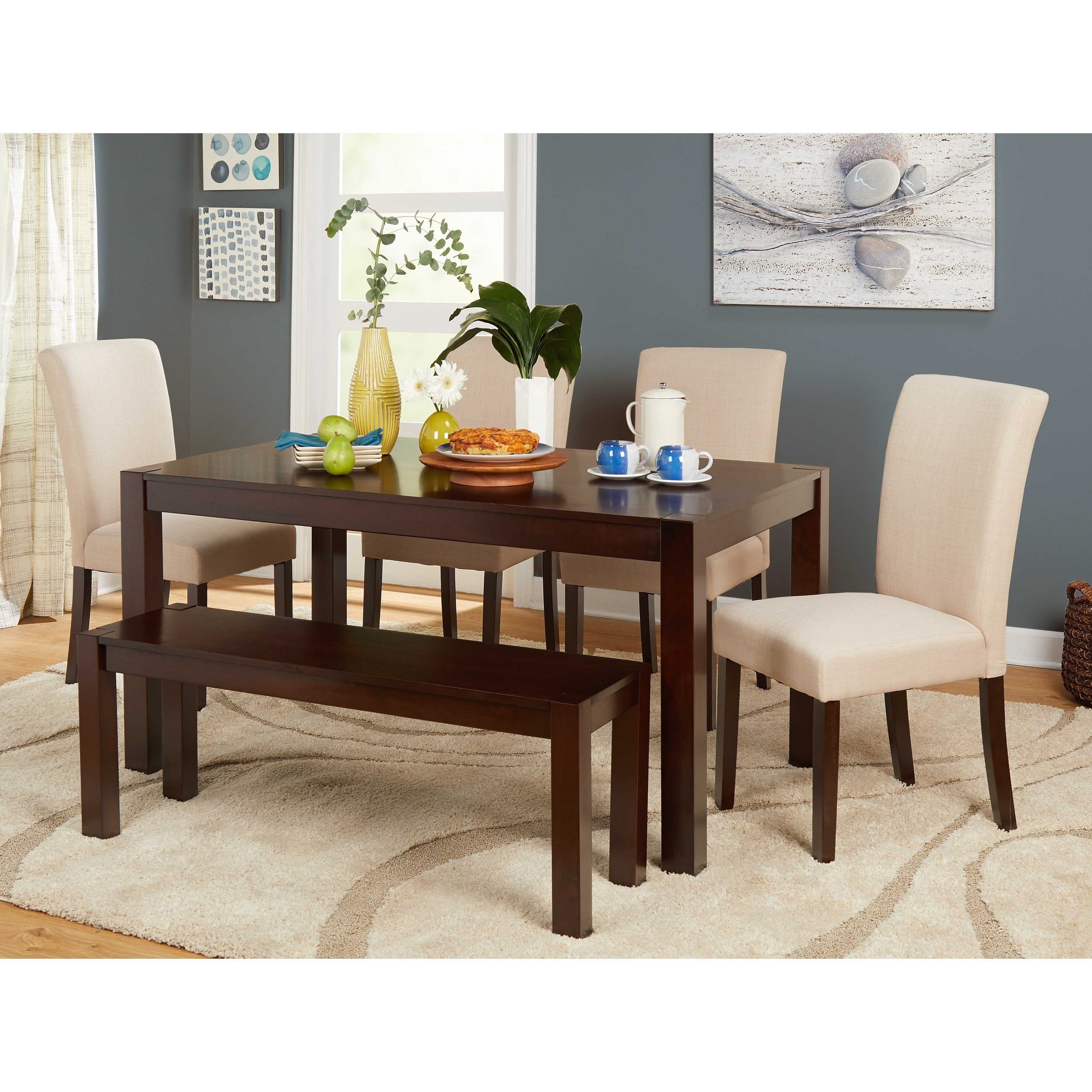 Conover 5 Piece Dining Sets Inside Well Known Shop Simple Living Axis 6 Piece Dining Set With Dining Bench – On (View 14 of 25)