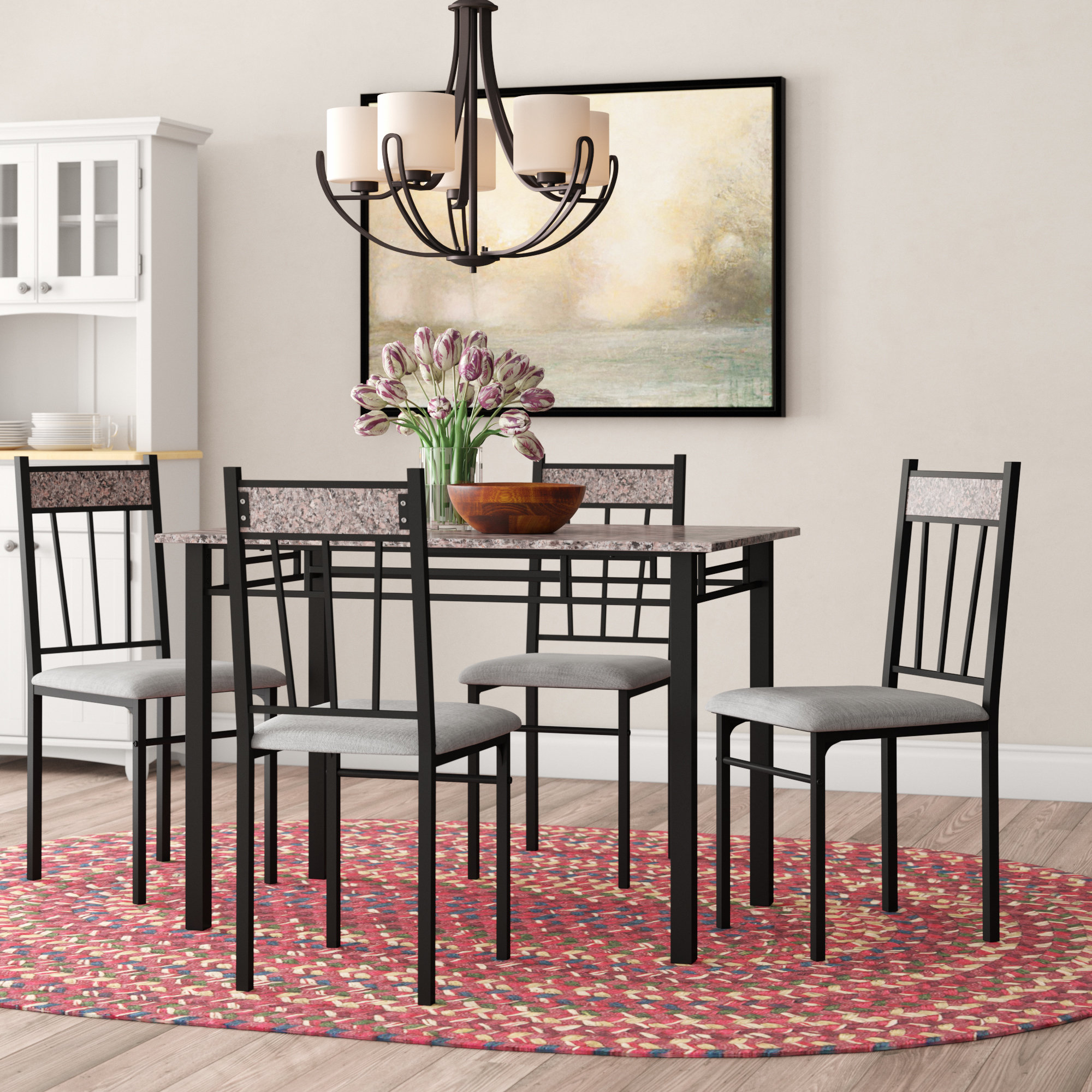 Conover 5 Piece Dining Sets With Regard To Most Current Winston Porter Caspar 5 Piece Dining Set & Reviews (View 11 of 25)
