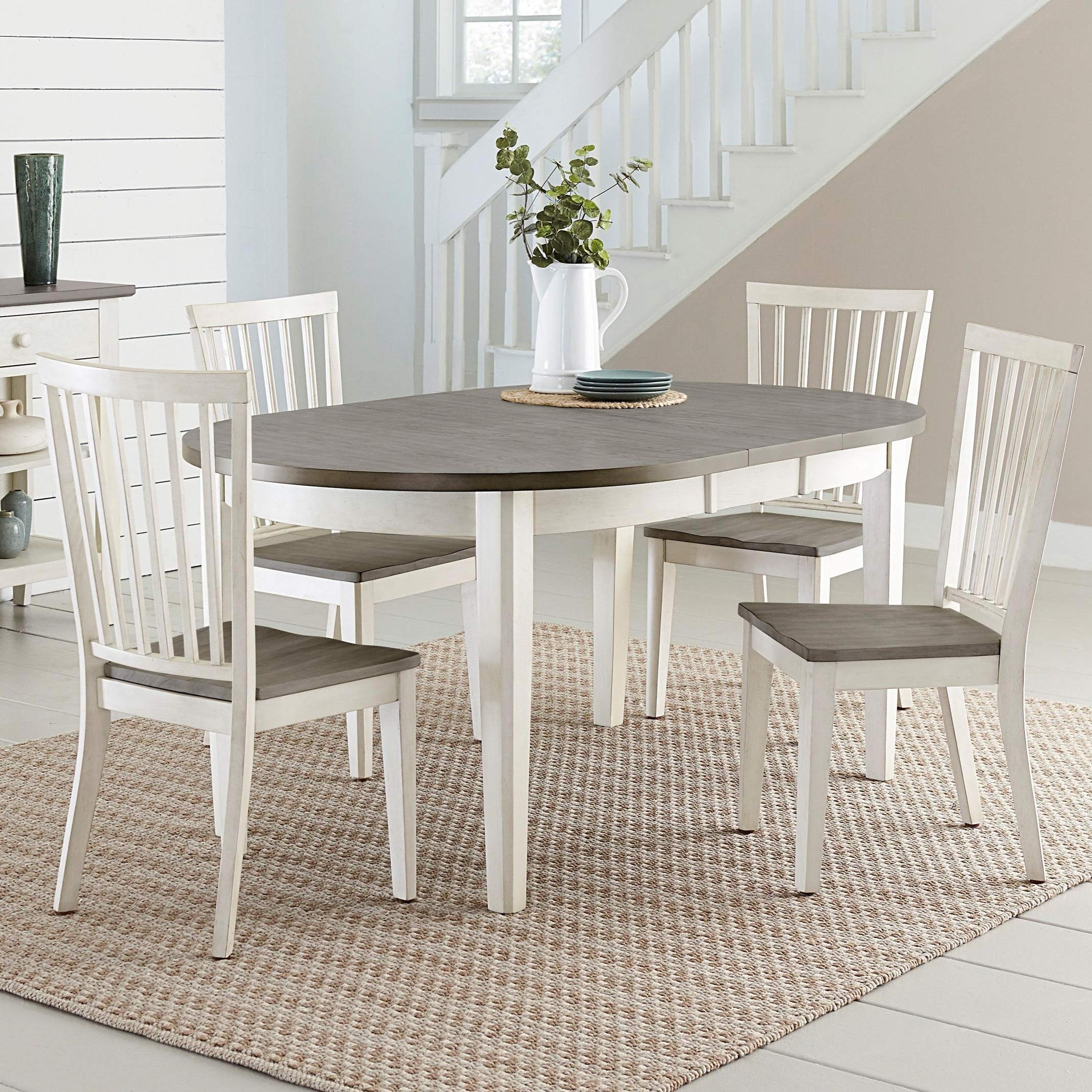 Conover 5 Piece Dining Sets Within Popular Progressive Furniture Lancaster Casual 5 Piece Dining Set With Two (View 17 of 25)