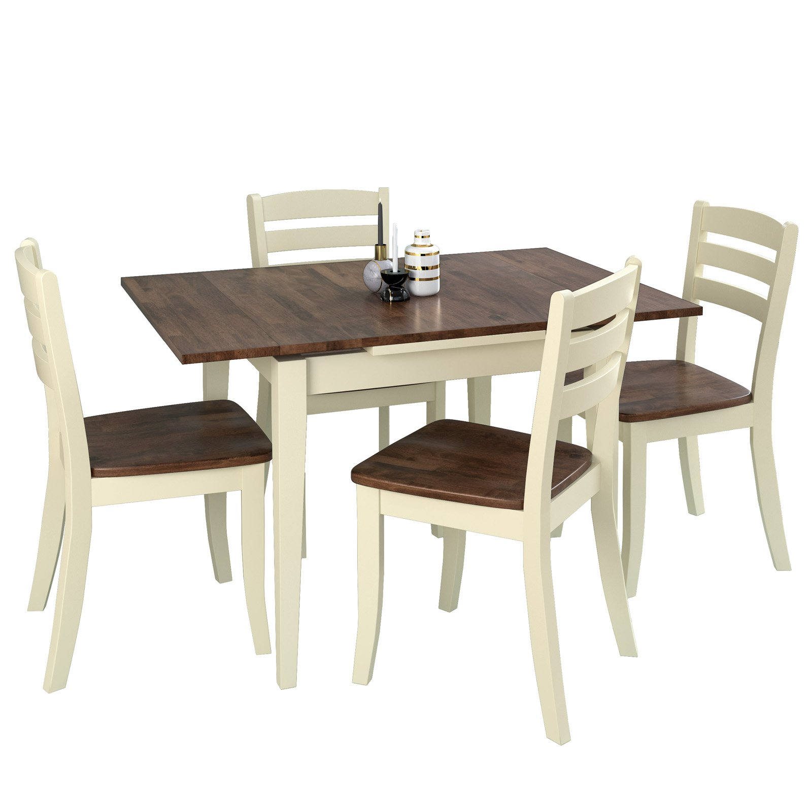 Corliving Dillon 5 Piece Rectangular Extendable Dining Set Intended For Most Recently Released Smyrna 3 Piece Dining Sets (View 18 of 25)