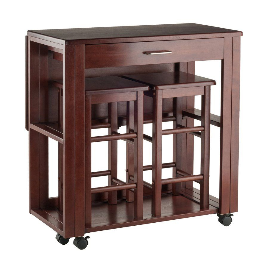 Crownover 3 Piece Bar Table Set (View 2 of 25)