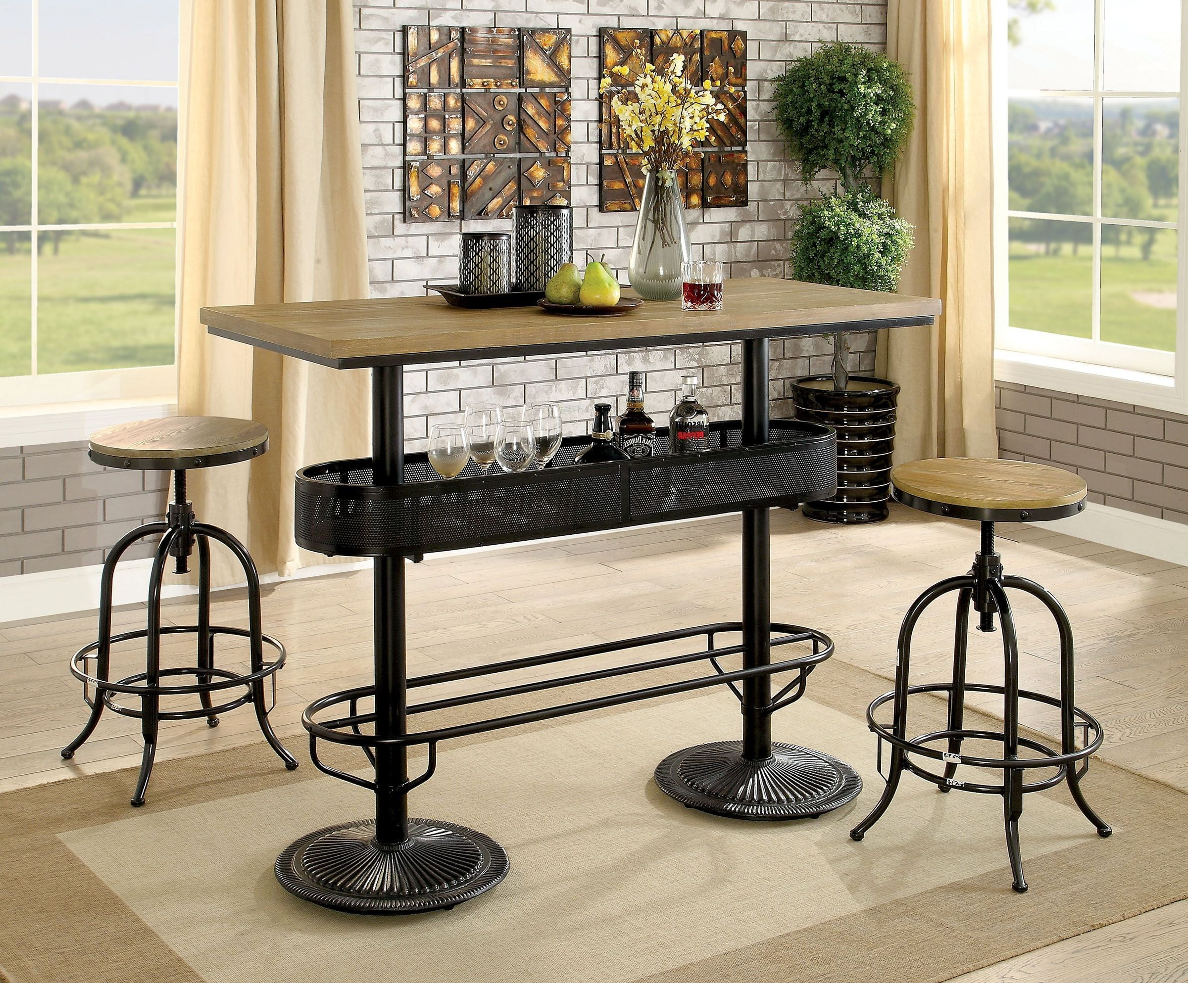 Crownover 3 Piece Bar Table Sets Intended For Trendy Bar Table Set – Summervilleaugusta (View 8 of 25)