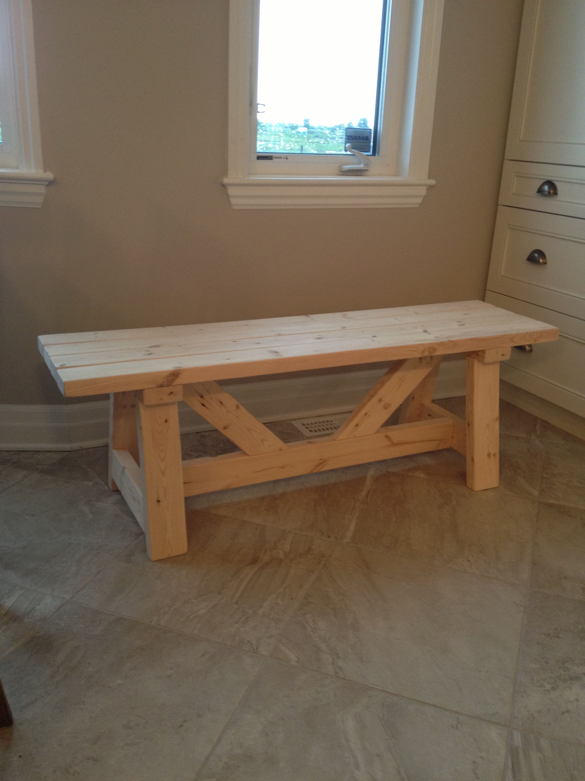 Current Falmer 3 Piece Solid Wood Dining Sets Inside Farmhouse Bench In 1 Day (View 14 of 25)