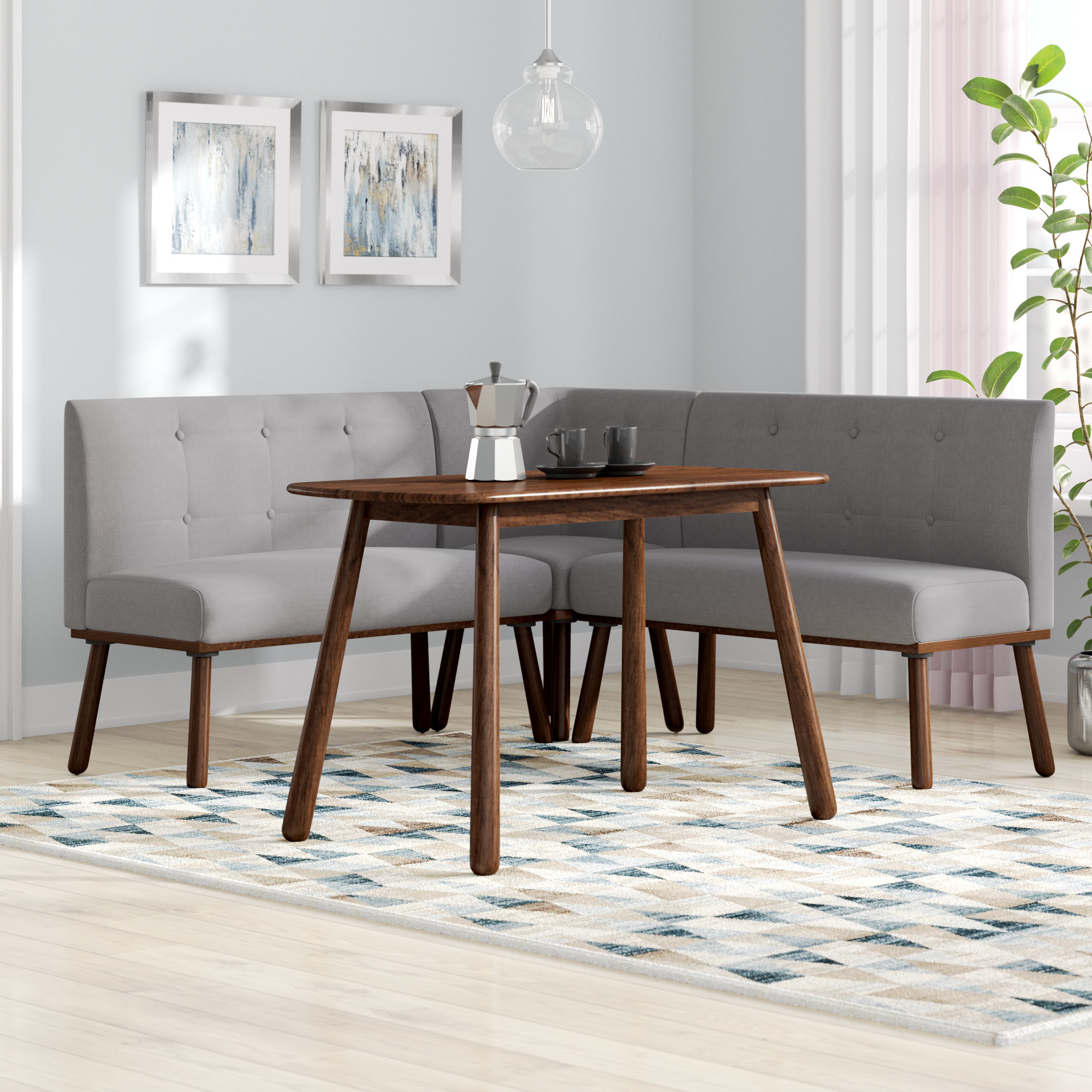 Current Ivy Bronx Bucci 4 Piece Breakfast Nook Rectangular Dining Set (View 23 of 25)